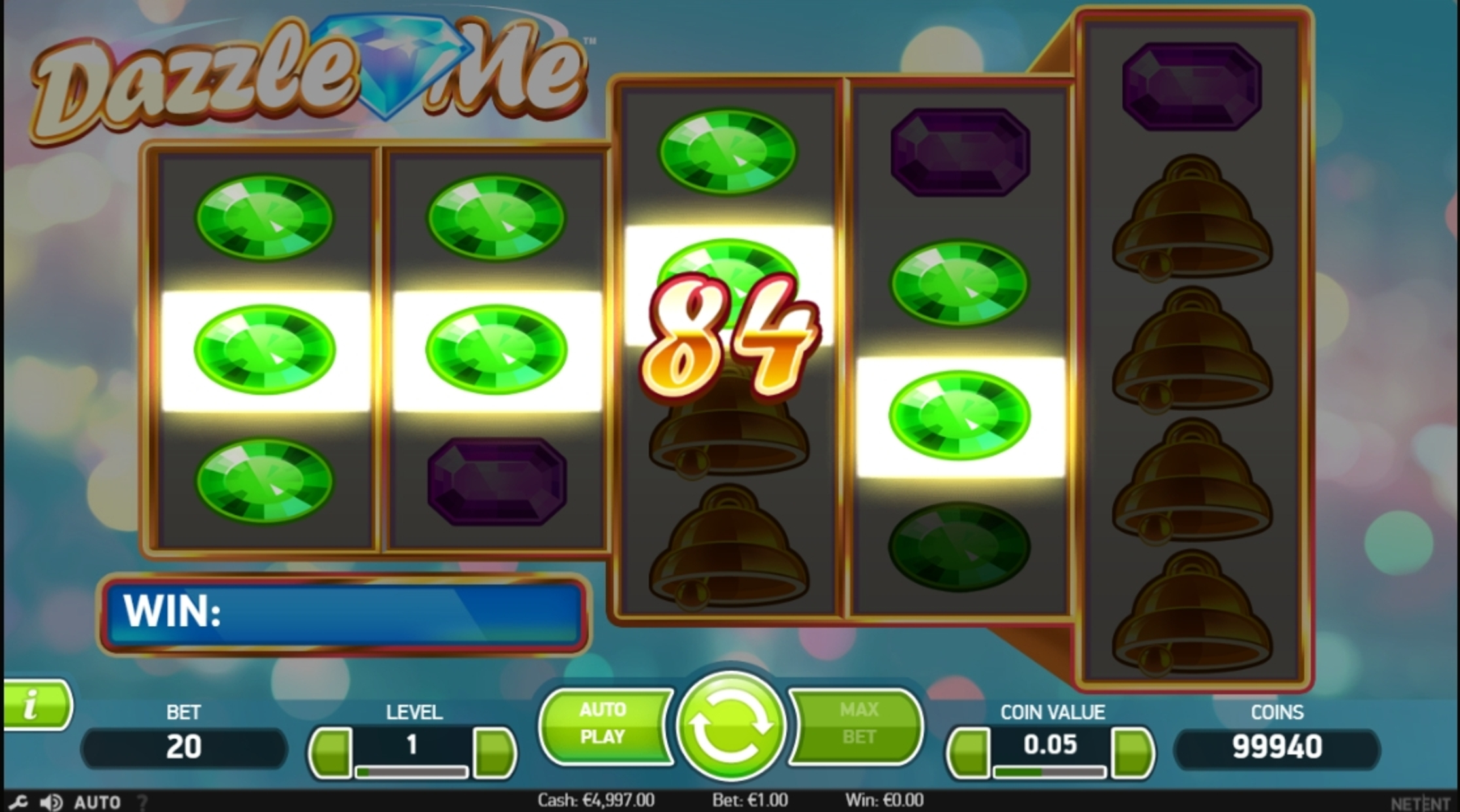 Win Money in Dazzle Me Free Slot Game by NetEnt