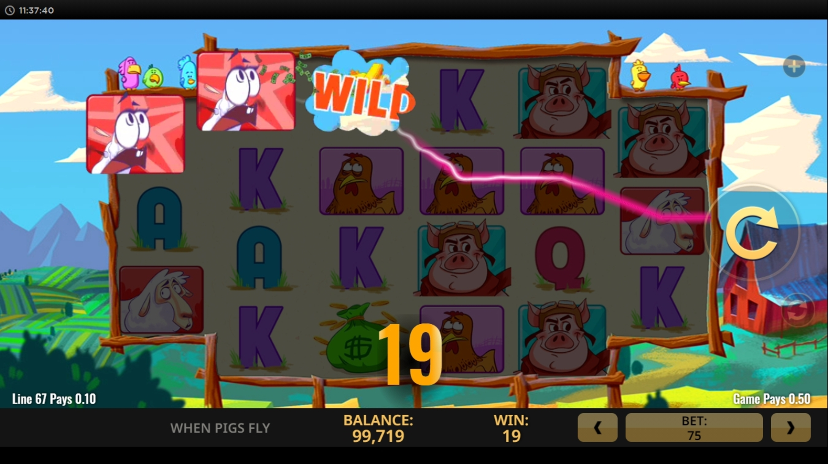 Win Money in When Pigs Fly (Netent) Free Slot Game by NetEnt