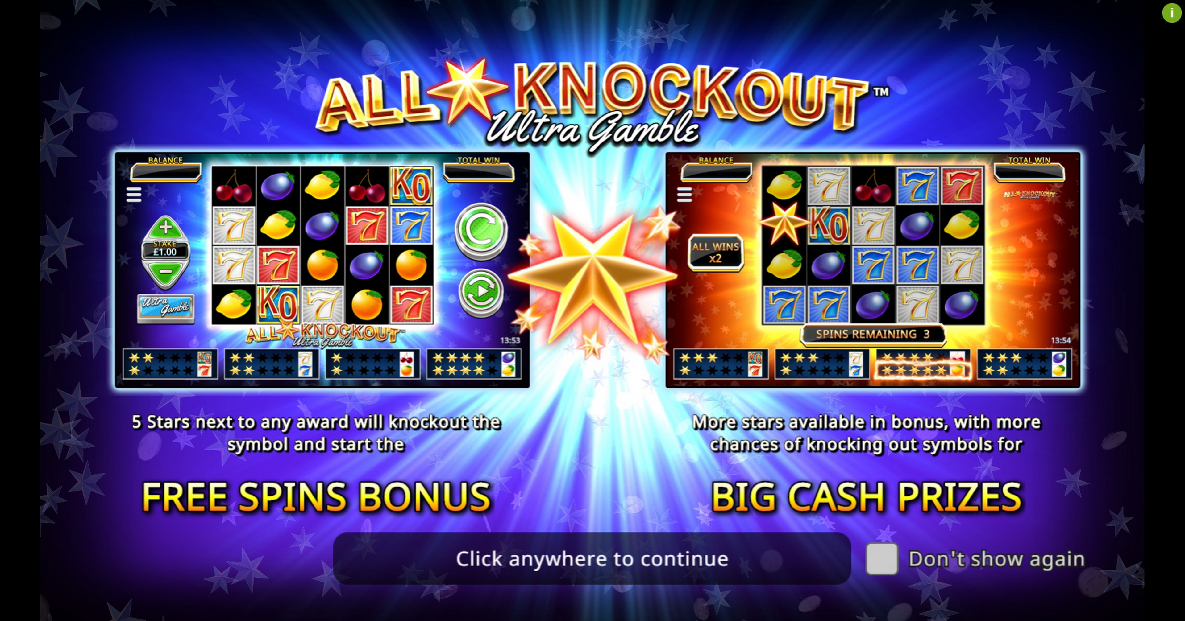 Play All Star Knockout Ultra Gamble Free Casino Slot Game by Northern Lights Gaming