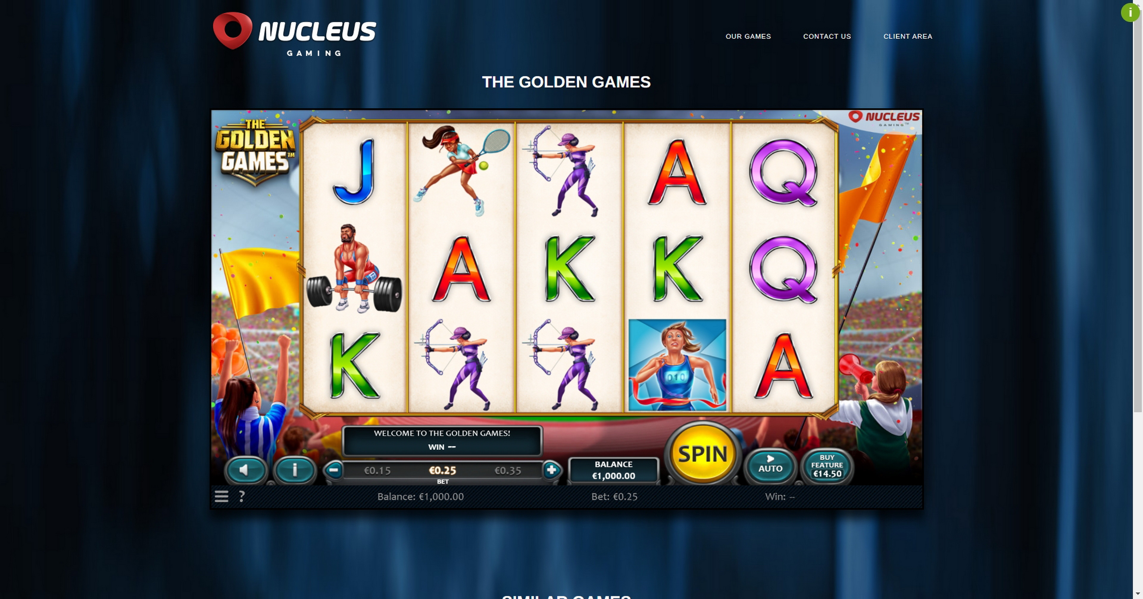 Reels in The Golden Games Slot Game by Nucleus Gaming
