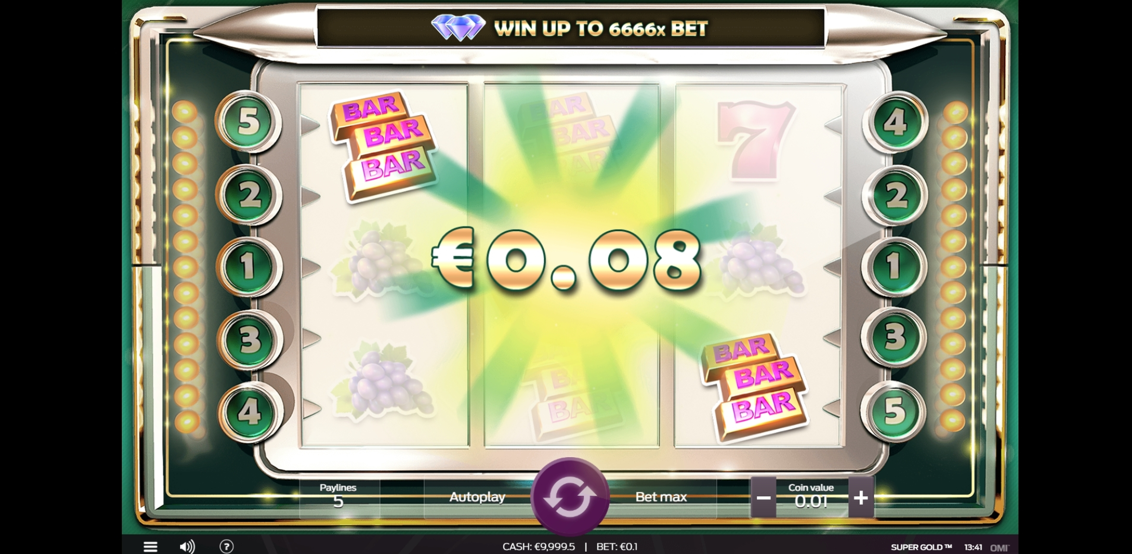 Win Money in Super Gold Free Slot Game by OMI Gaming