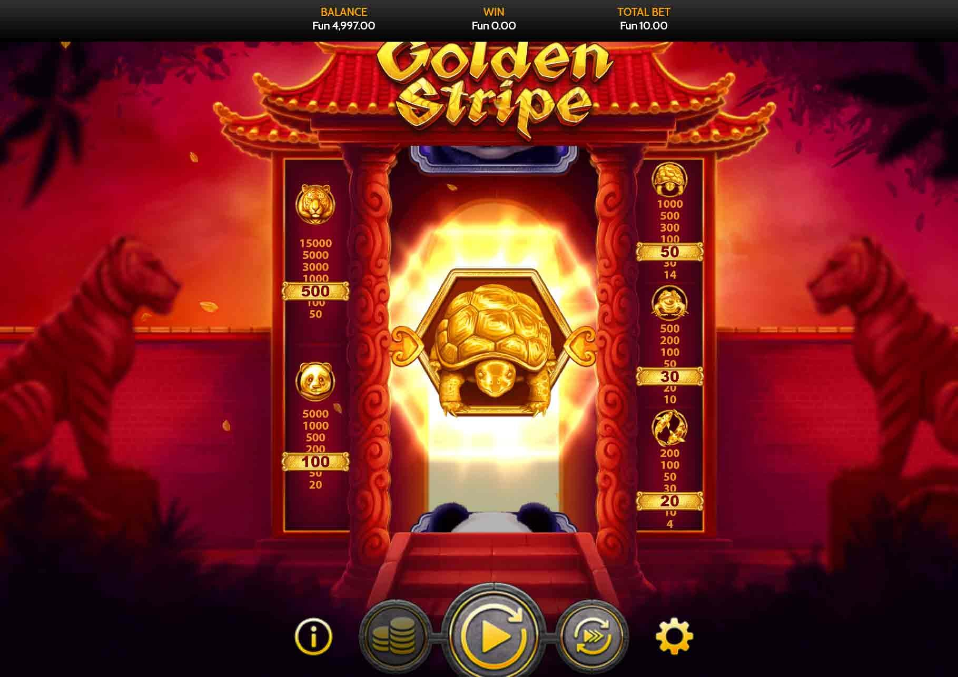 The Golden Stripe Online Slot Demo Game by OneTouch Games