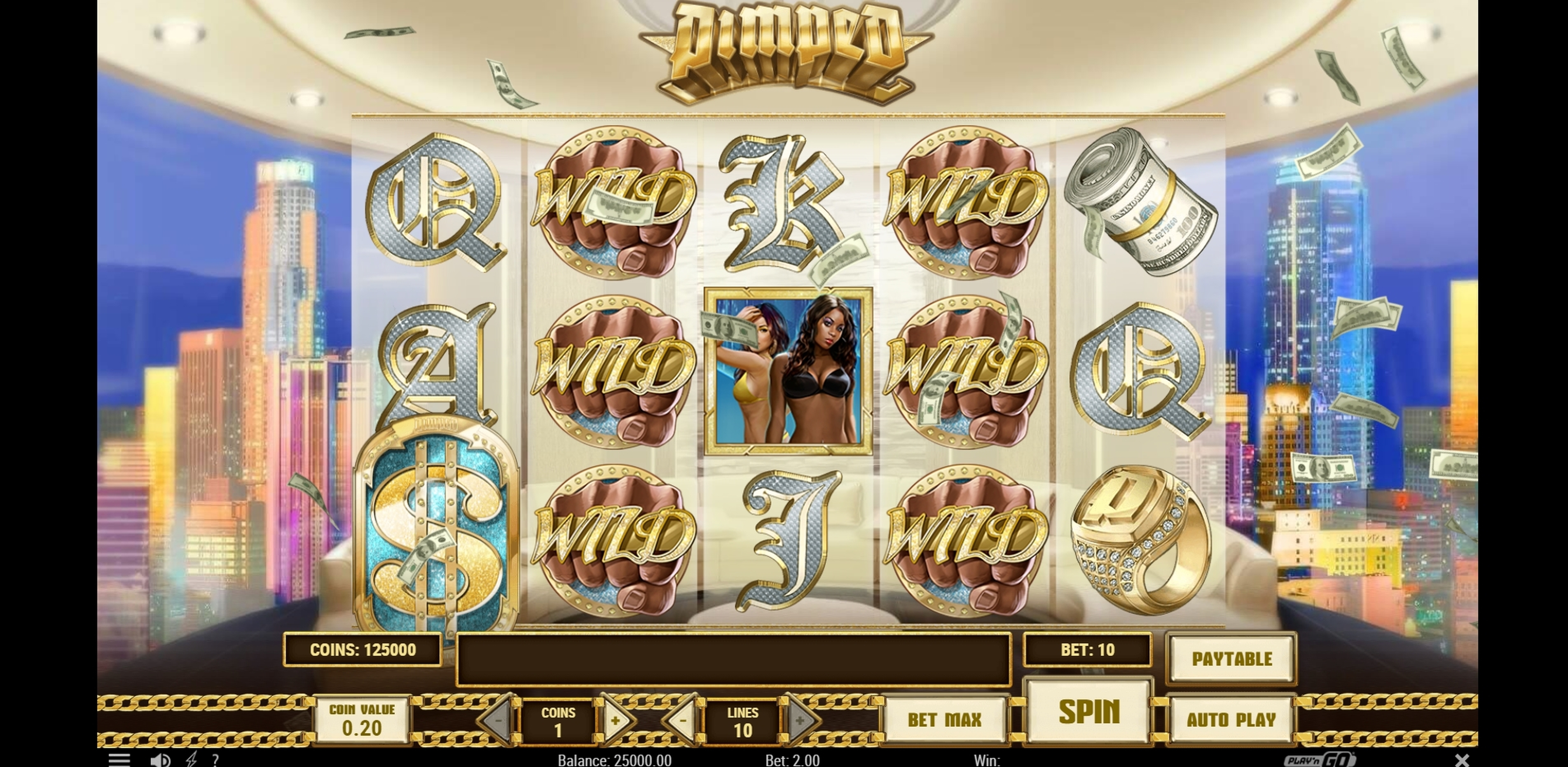 Reels in Pimped Slot Game by Playn GO