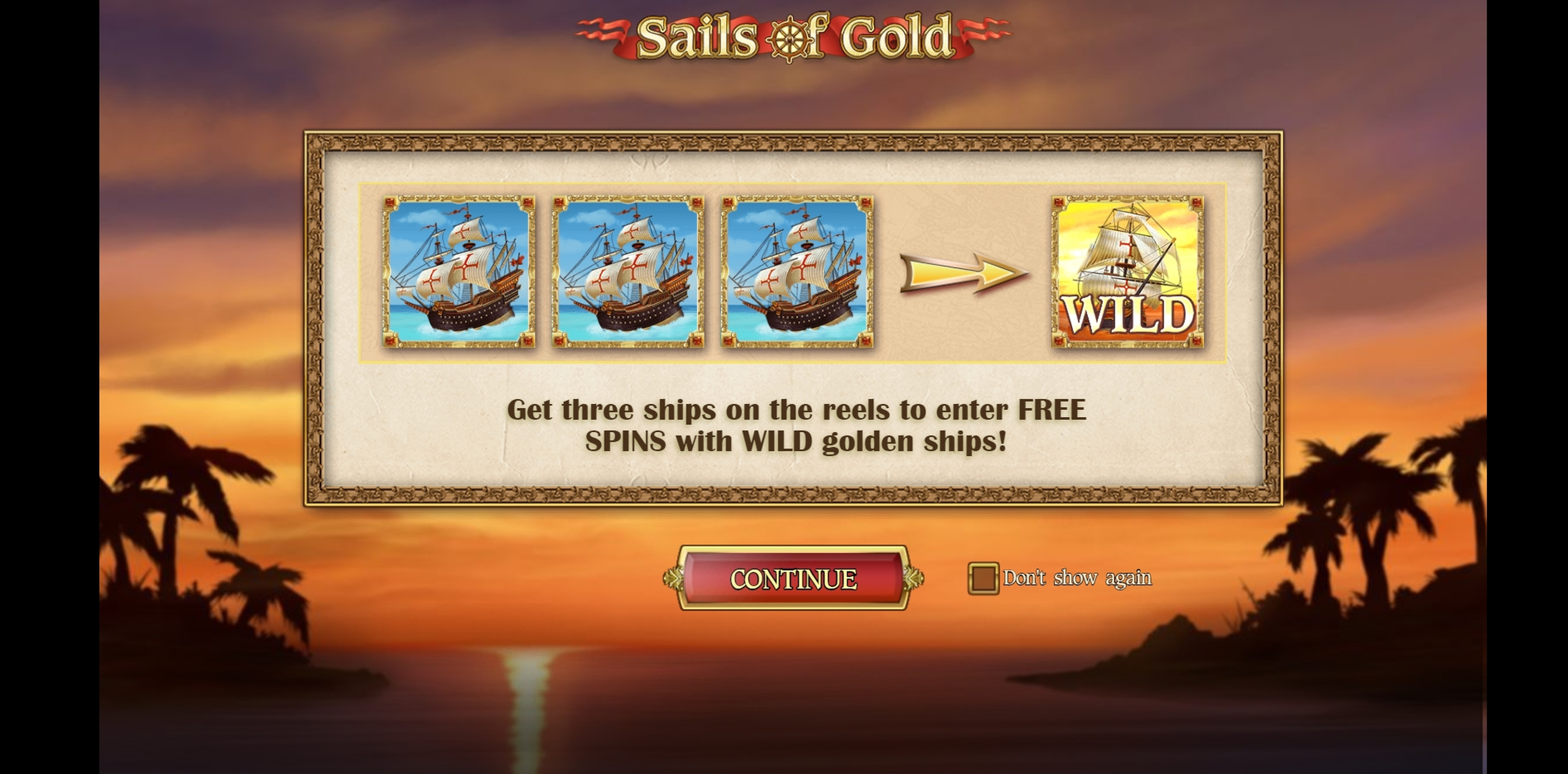 Play Sails of Gold Free Casino Slot Game by Playn GO