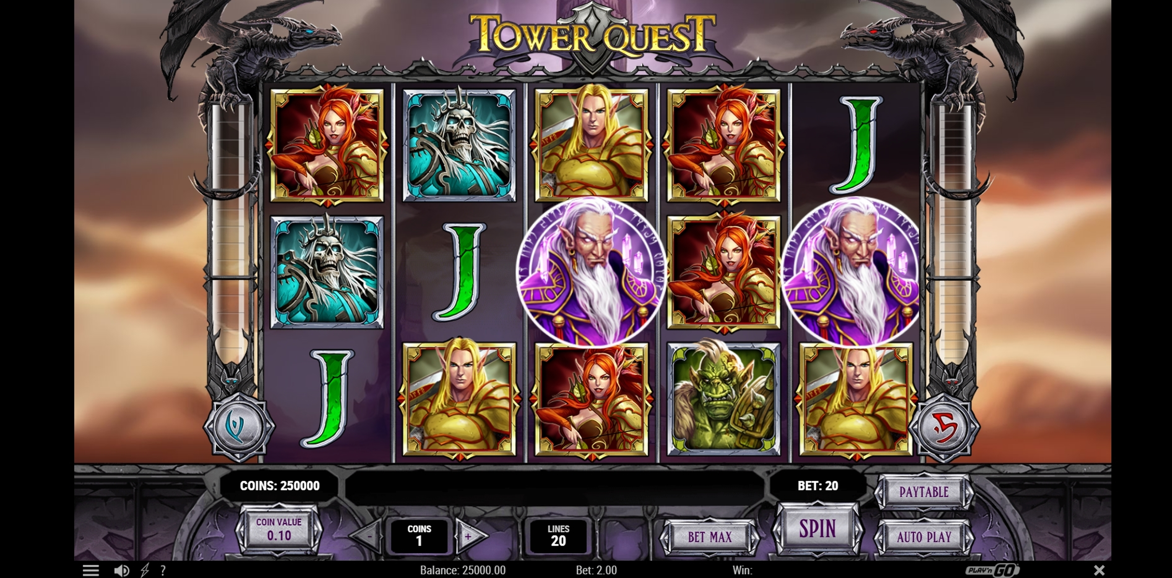 Reels in Tower Quest Slot Game by Playn GO