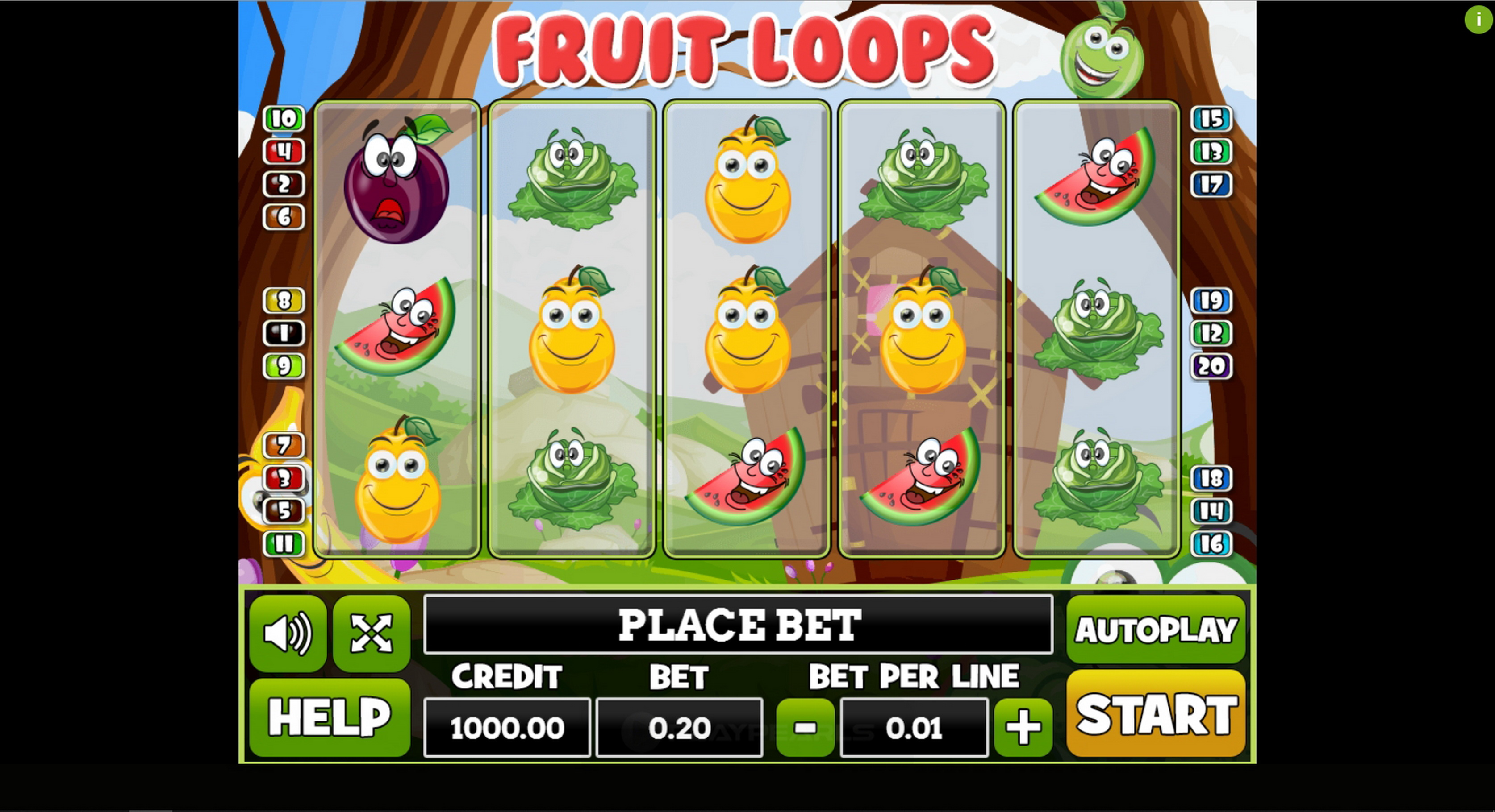 Reels in Fruit Loops Slot Game by PlayPearls