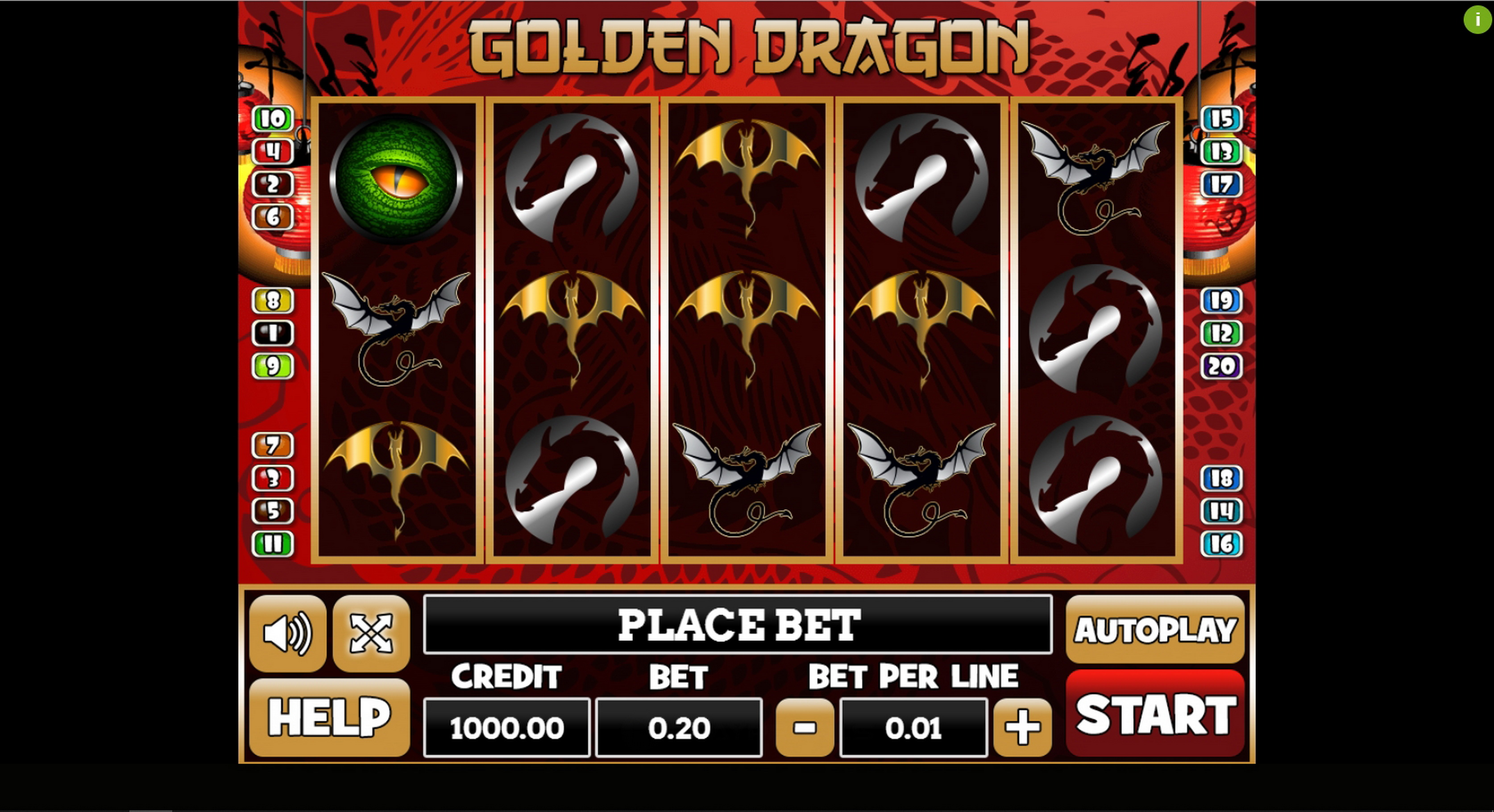 Reels in Golden Dragon (PlayPearls) Slot Game by PlayPearls