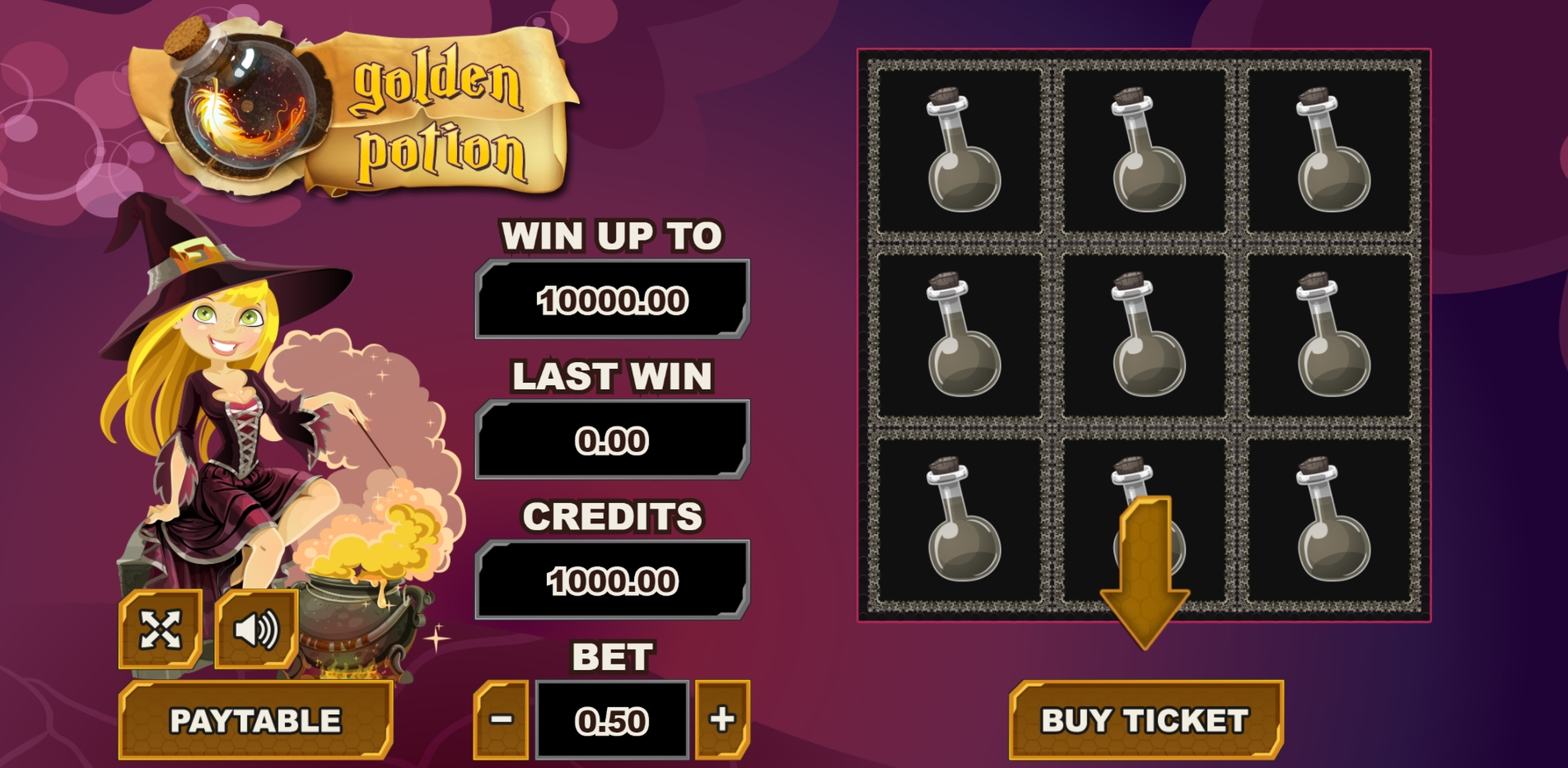 Reels in Golden Potion Slot Game by PlayPearls