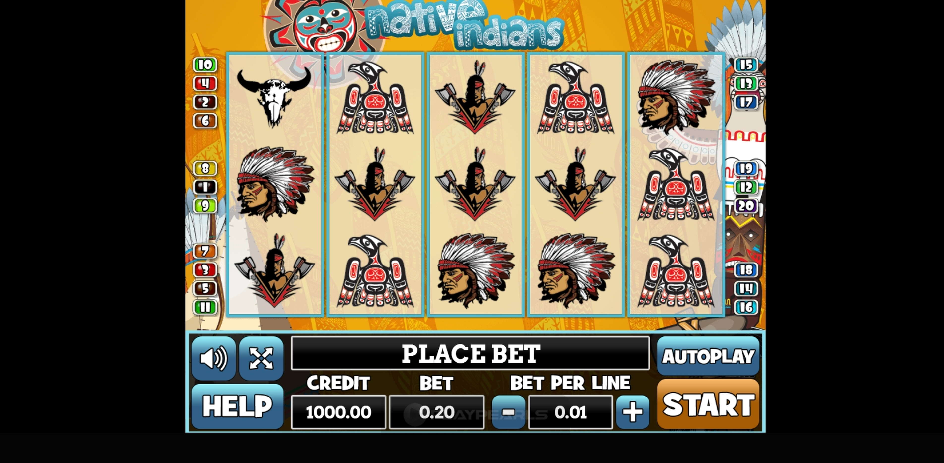 Reels in Native Indians Slot Game by PlayPearls
