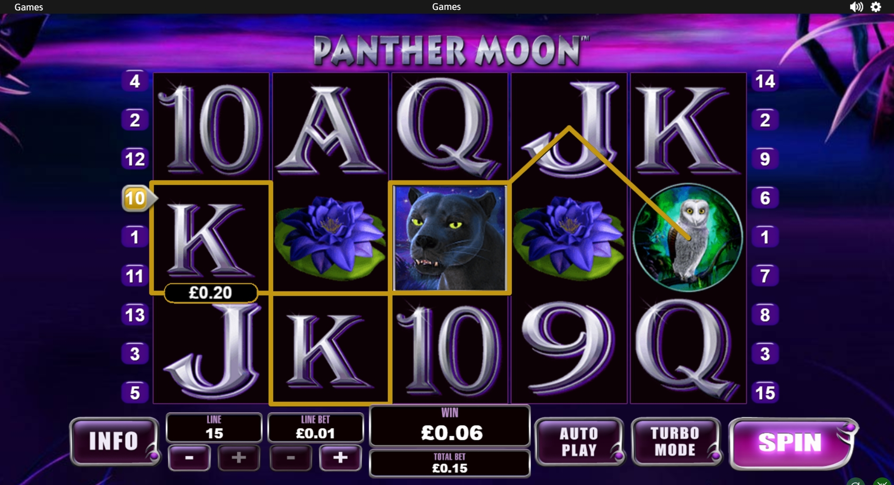 Win Money in Panther Moon Free Slot Game by Playtech