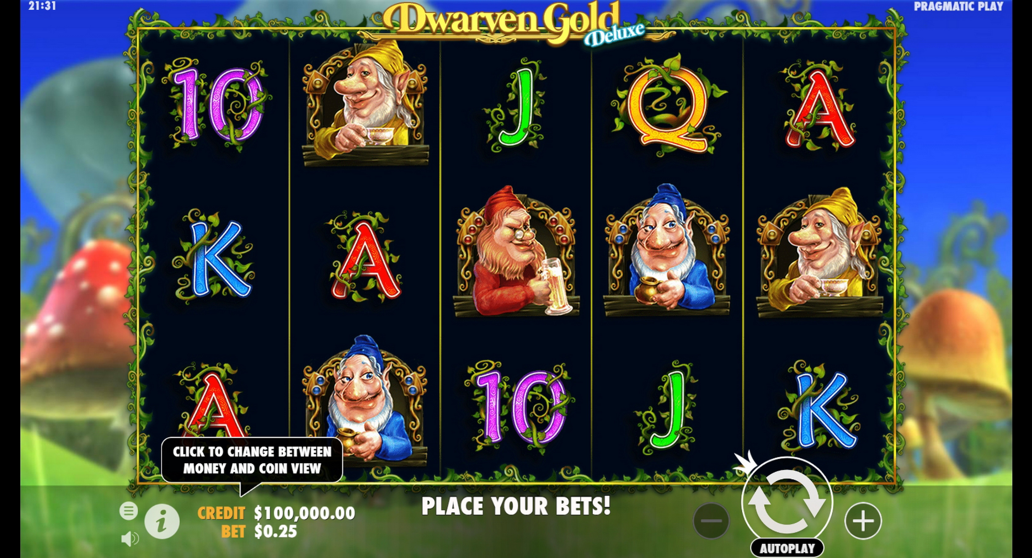Reels in Dwarven Gold Deluxe Slot Game by Pragmatic Play