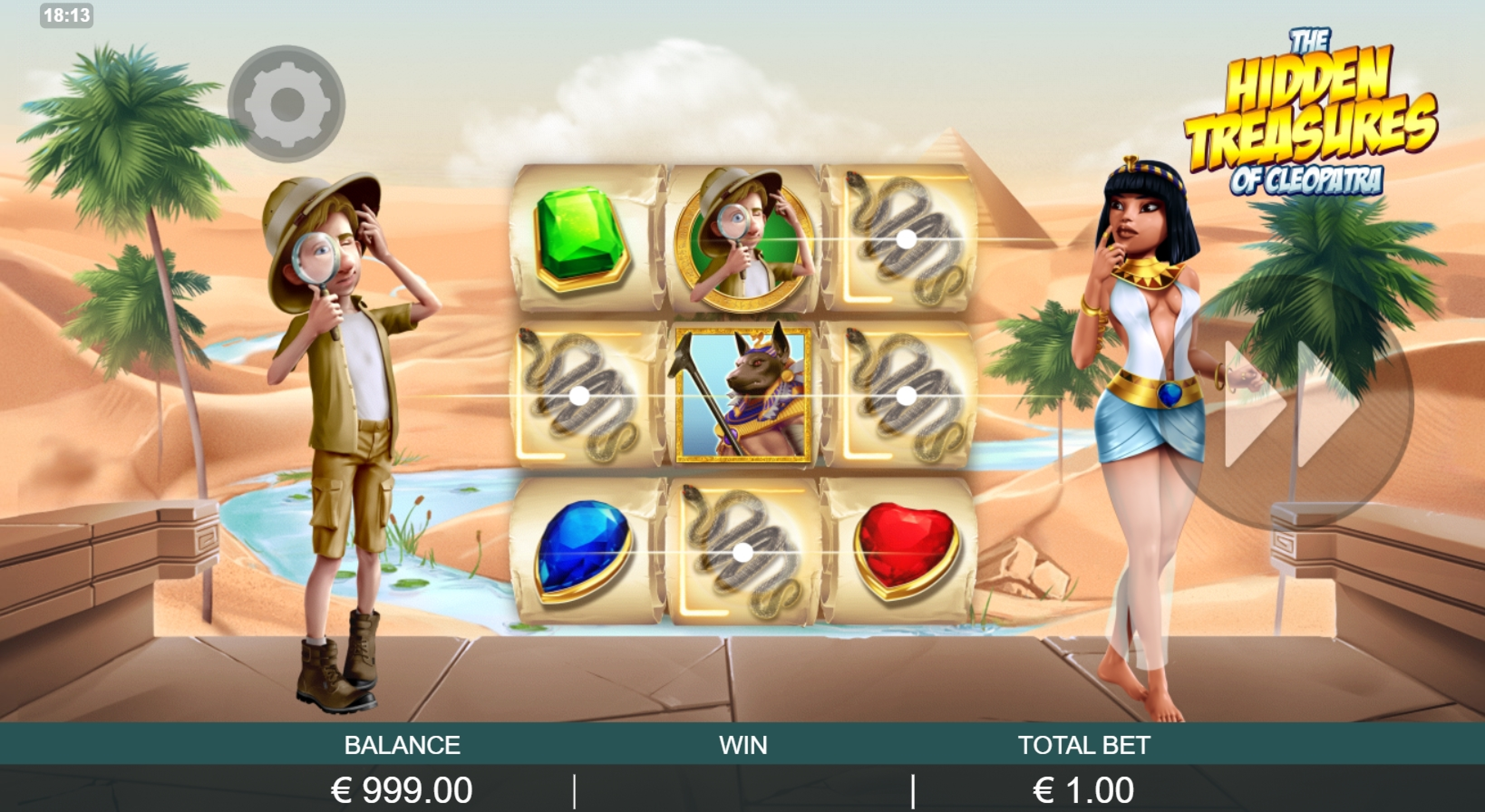 Win Money in The Hidden Treasure of Cleopatra Free Slot Game by Probability Jones