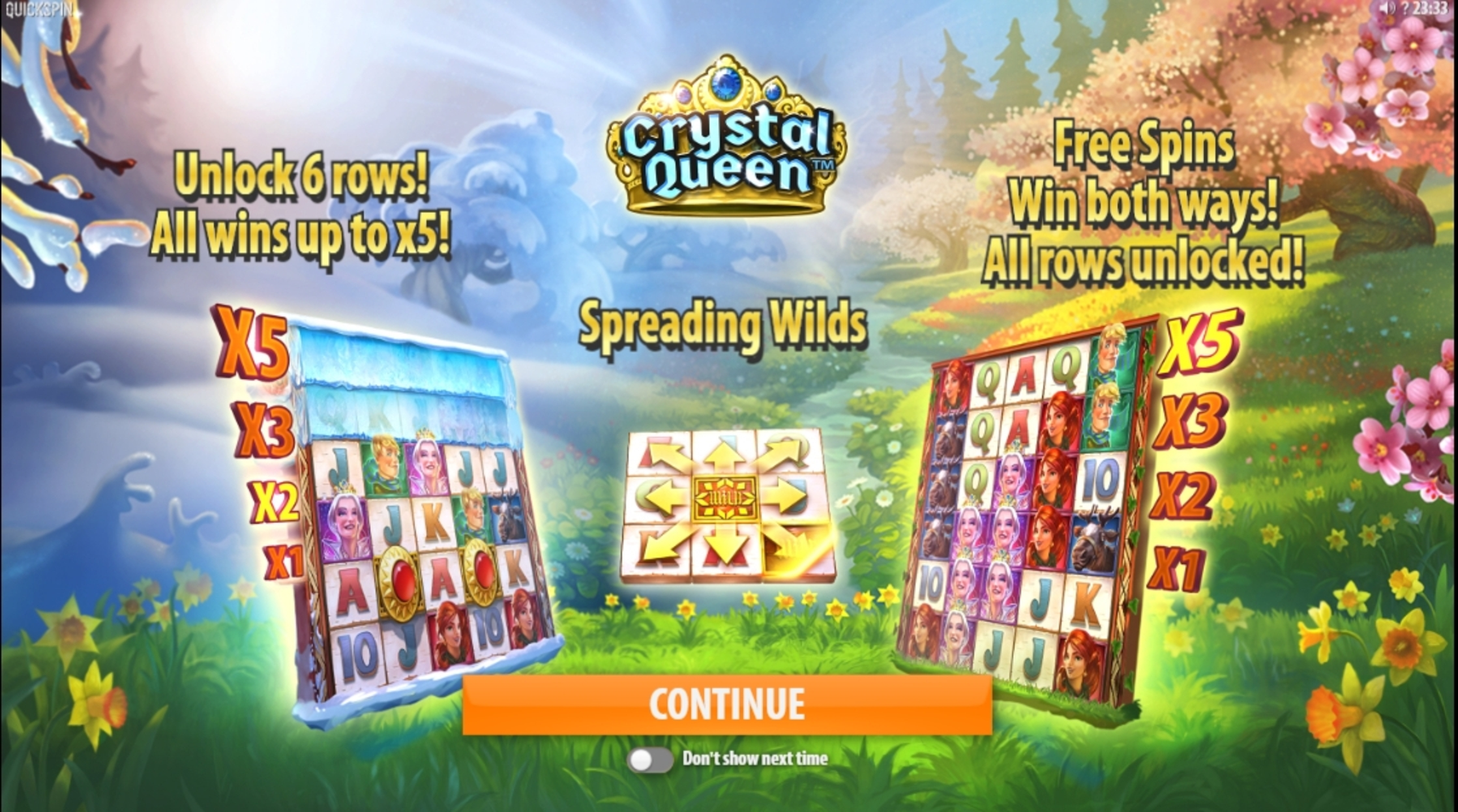 Play Crystal Queen Free Casino Slot Game by Quickspin
