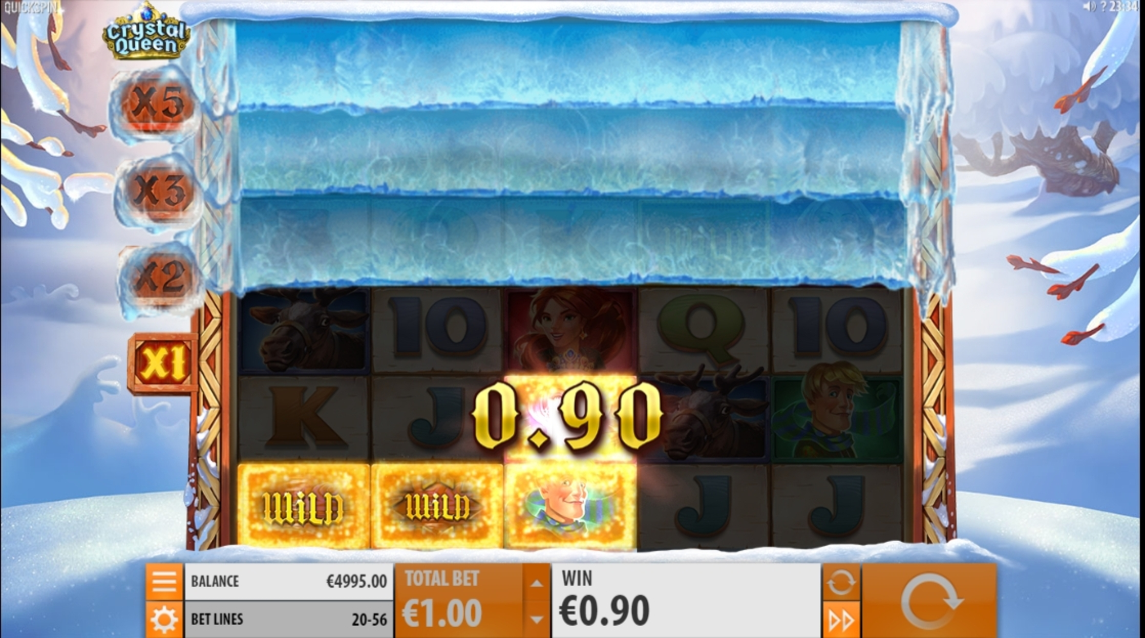 Win Money in Crystal Queen Free Slot Game by Quickspin