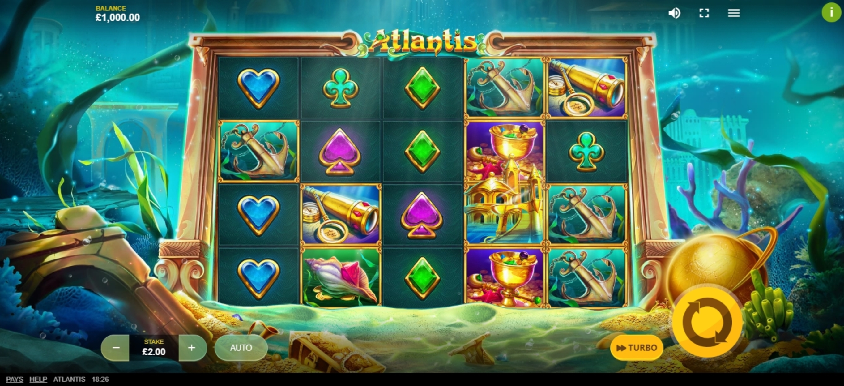 Reels in Atlantis (Red Tiger) Slot Game by Red Tiger