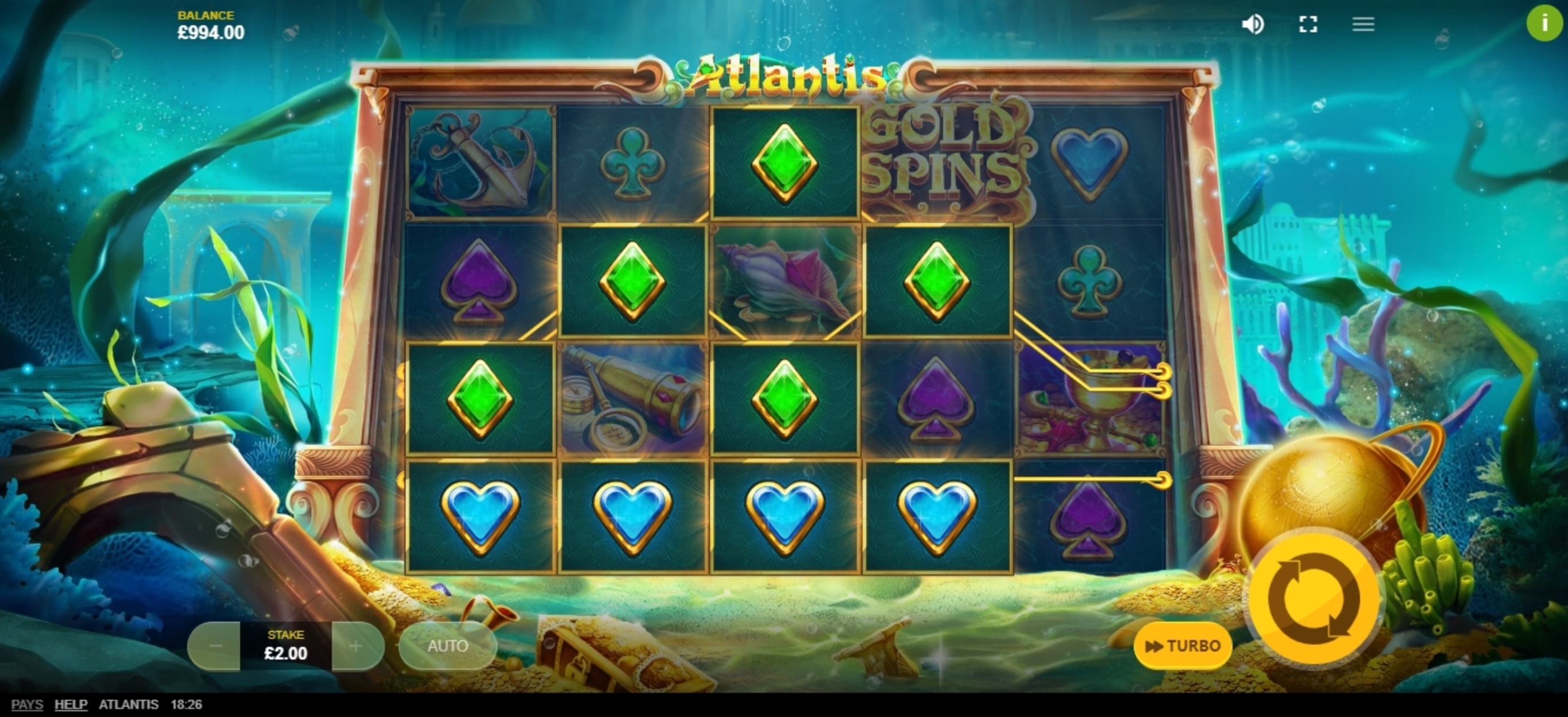 Win Money in Atlantis (Red Tiger) Free Slot Game by Red Tiger