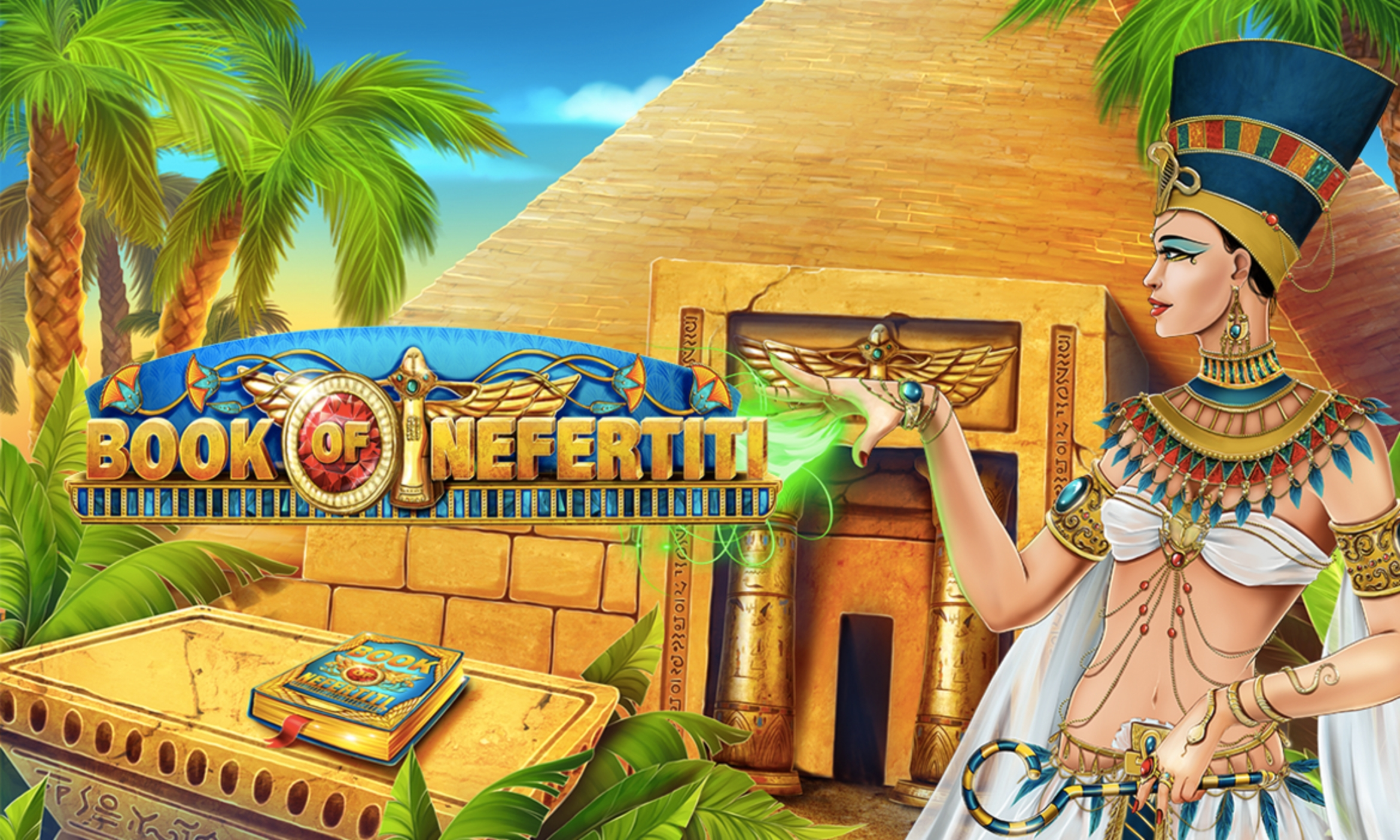 Reels in Book of Nefertiti Slot Game by ReelNRG Gaming