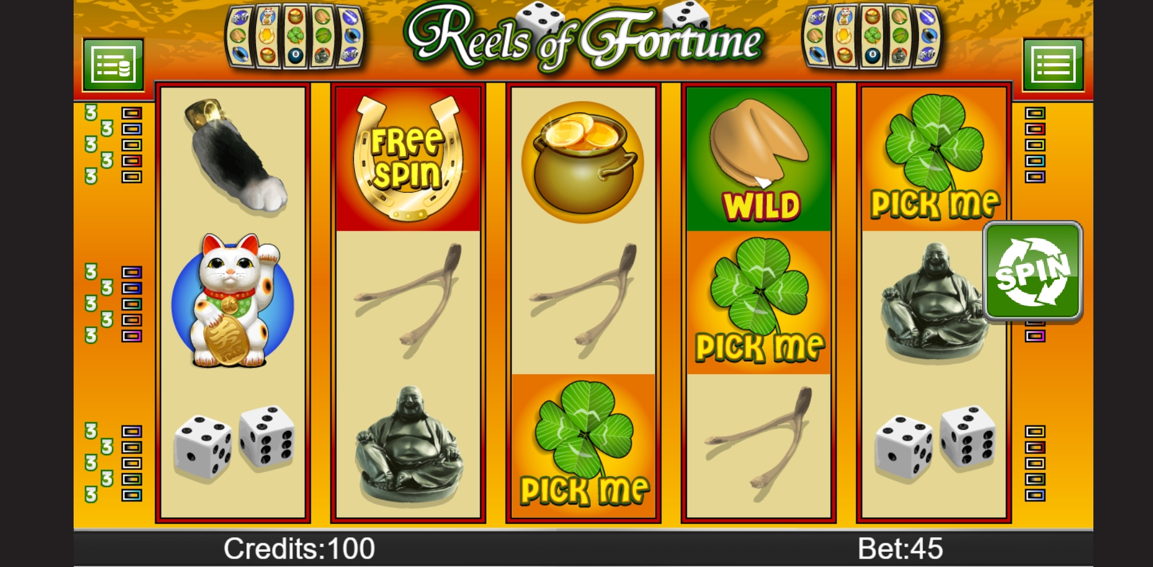 Reels in Reels of Fortune Slot Game by PAF