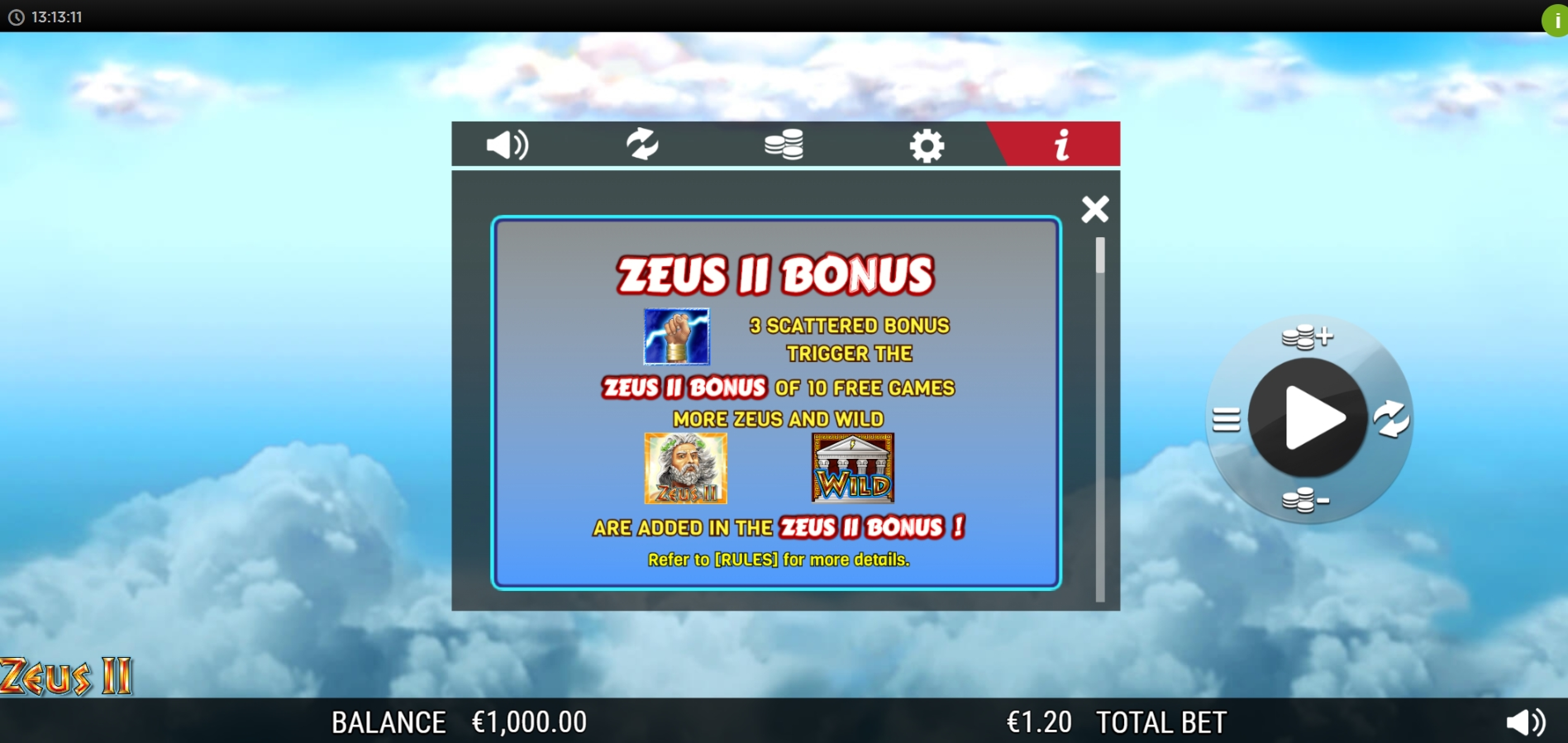Info of Zeus 2 (WMS) Slot Game by WMS