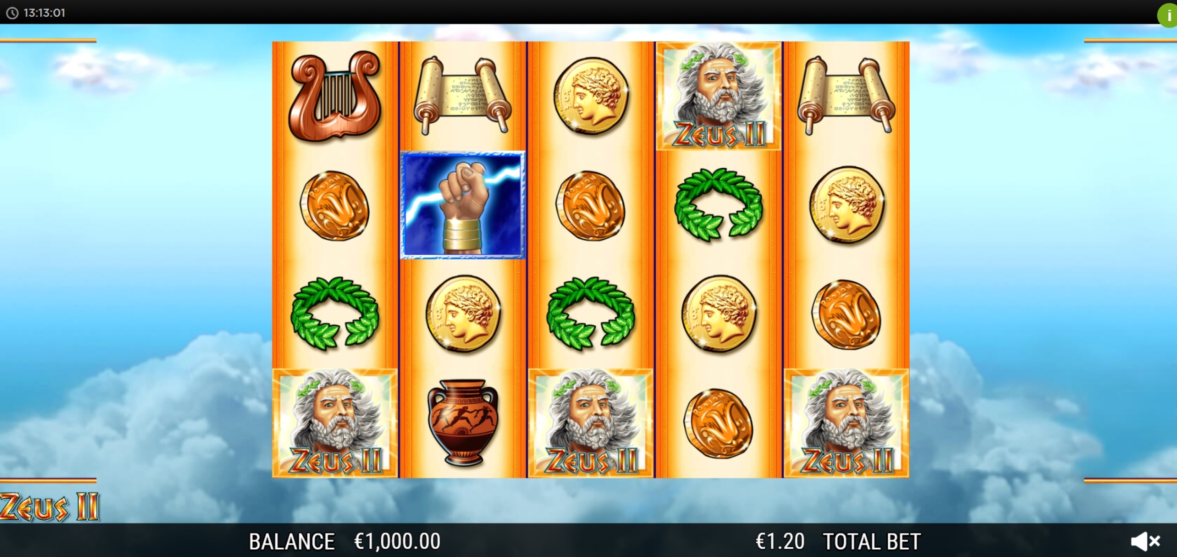 Reels in Zeus 2 (WMS) Slot Game by WMS