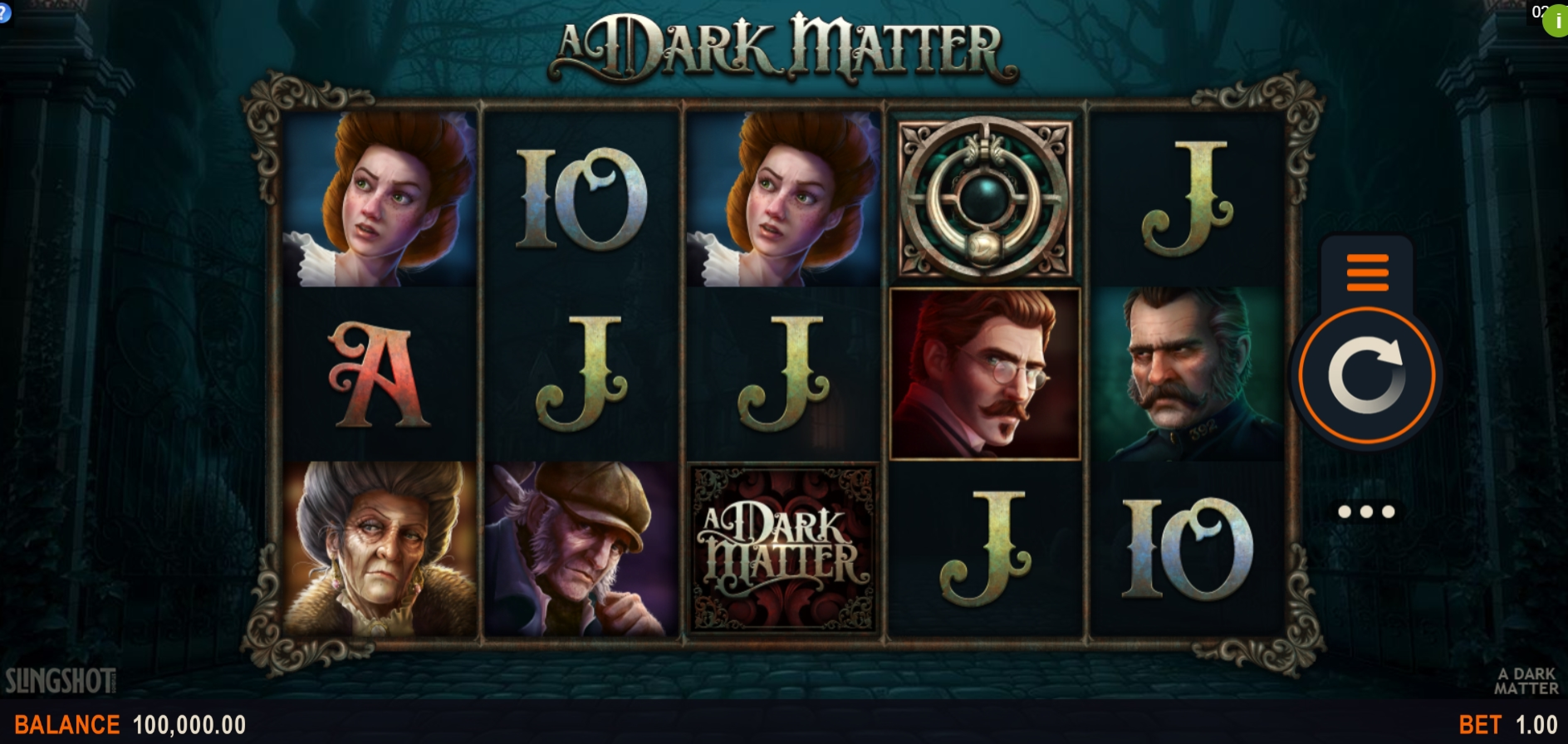 Reels in A Dark Matter Slot Game by Slingshot Studios