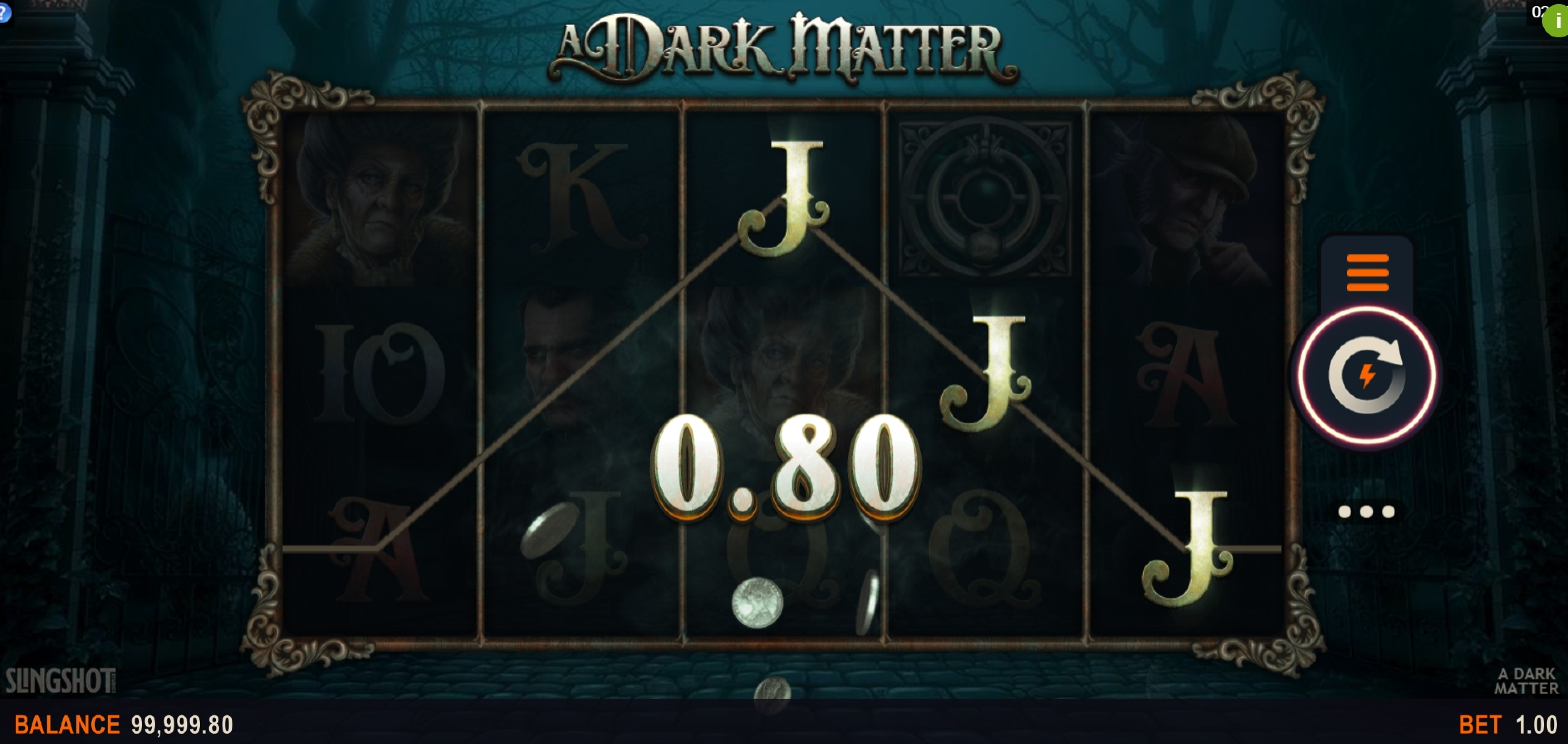 Win Money in A Dark Matter Free Slot Game by Slingshot Studios