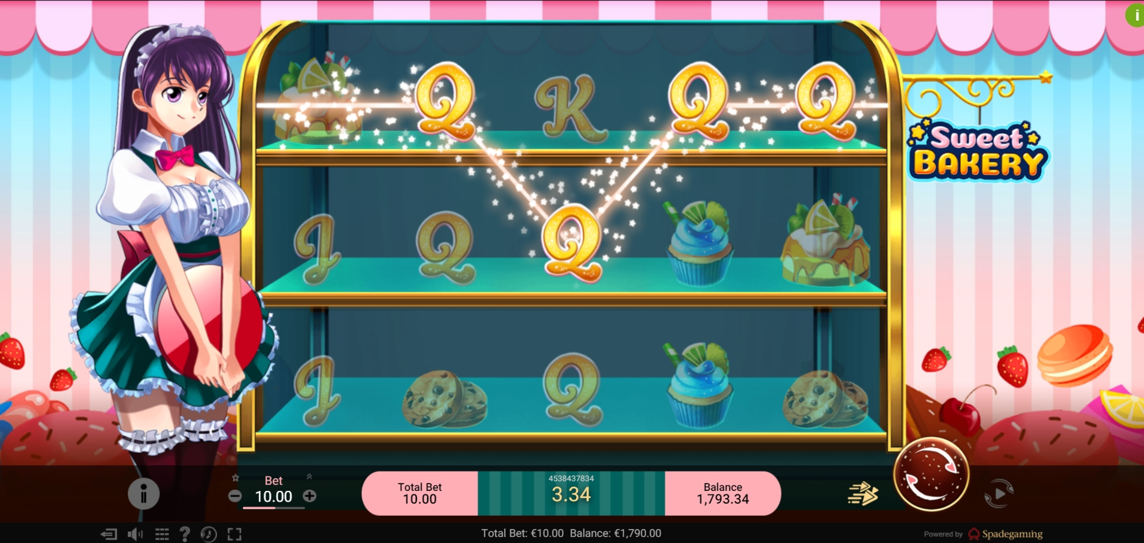 Win Money in Sweet Bakery Free Slot Game by Spade Gaming