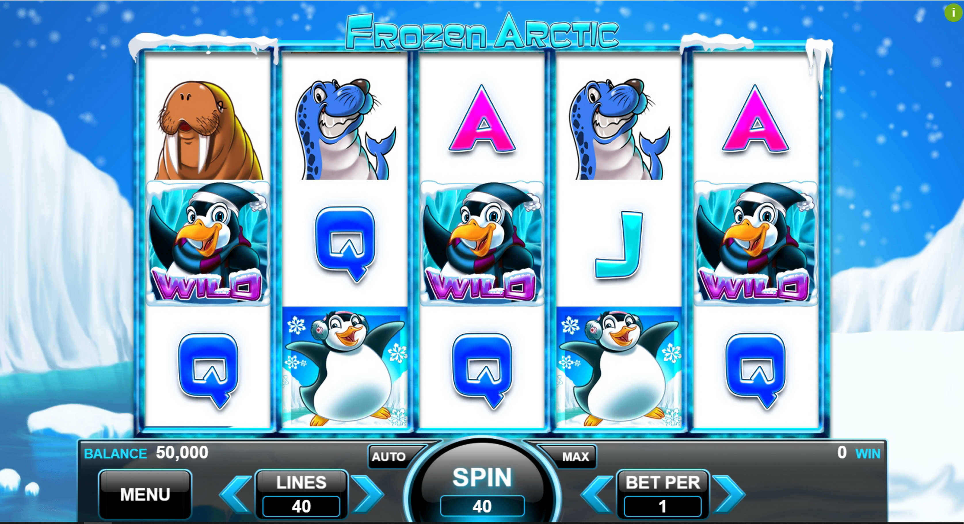 Reels in Frozen Arctic Slot Game by Spin Games