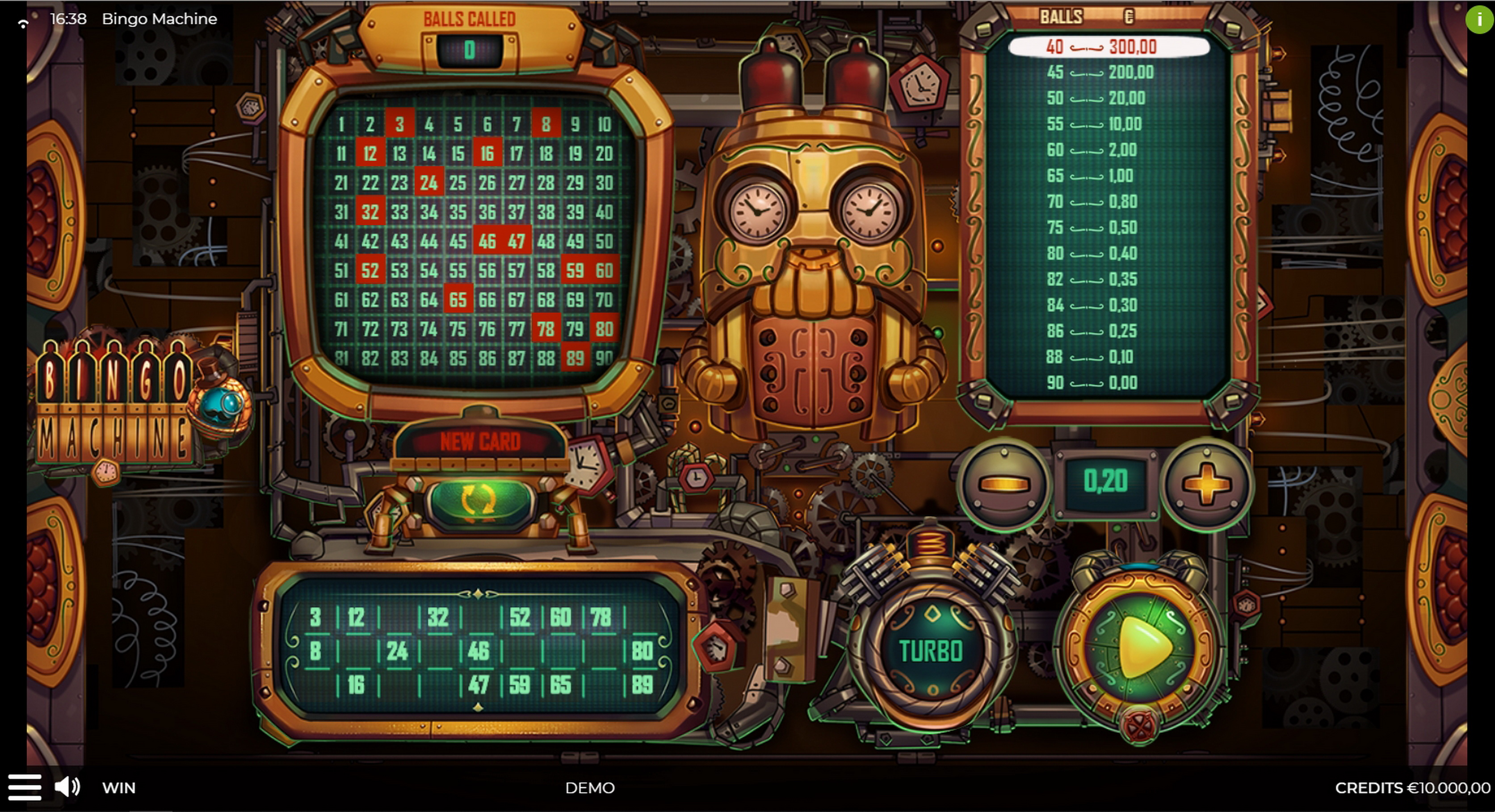 Reels in Bingo Machine Slot Game by Spinmatic