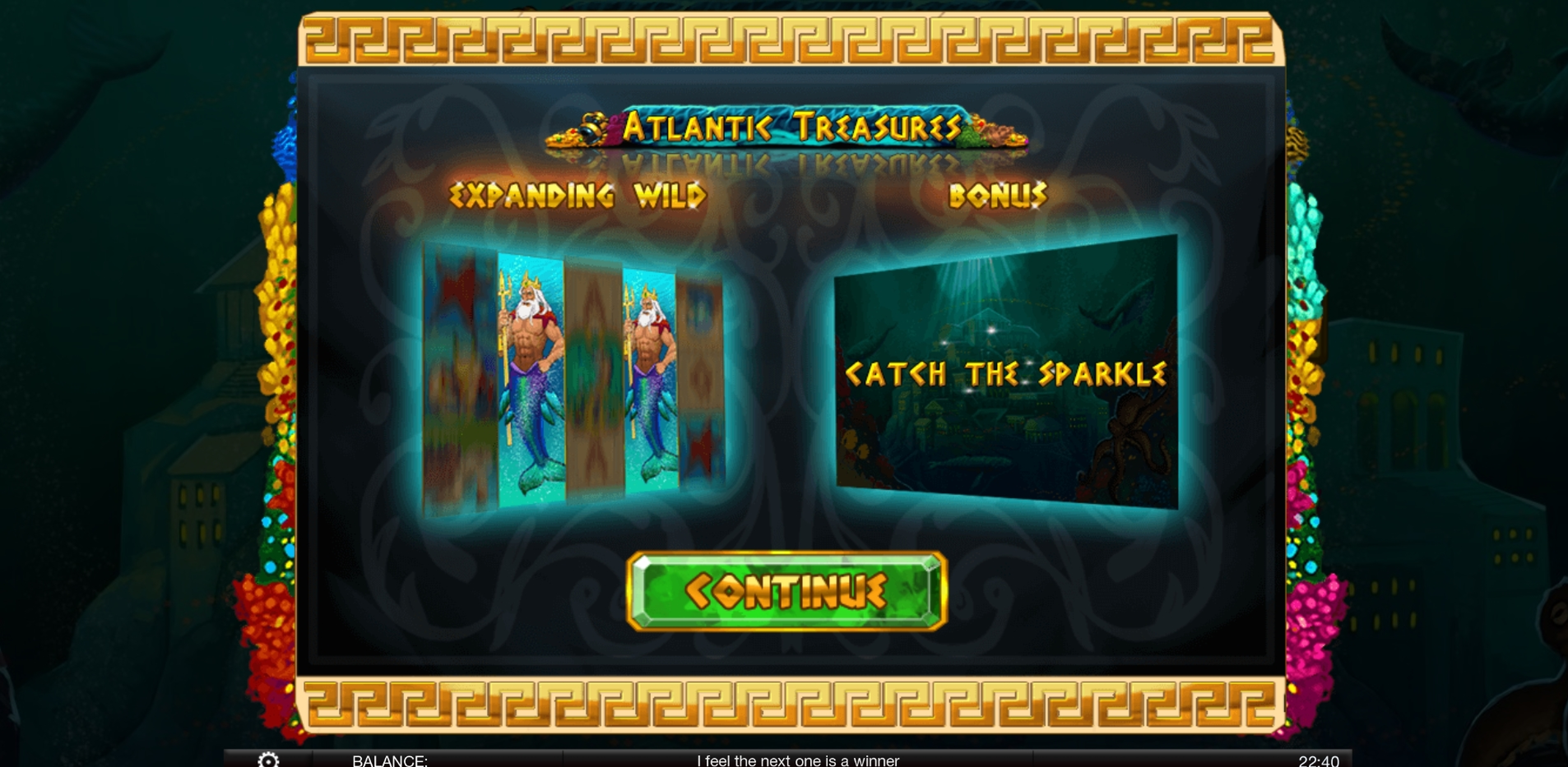 Play Atlantic Treasures Free Casino Slot Game by Spinomenal