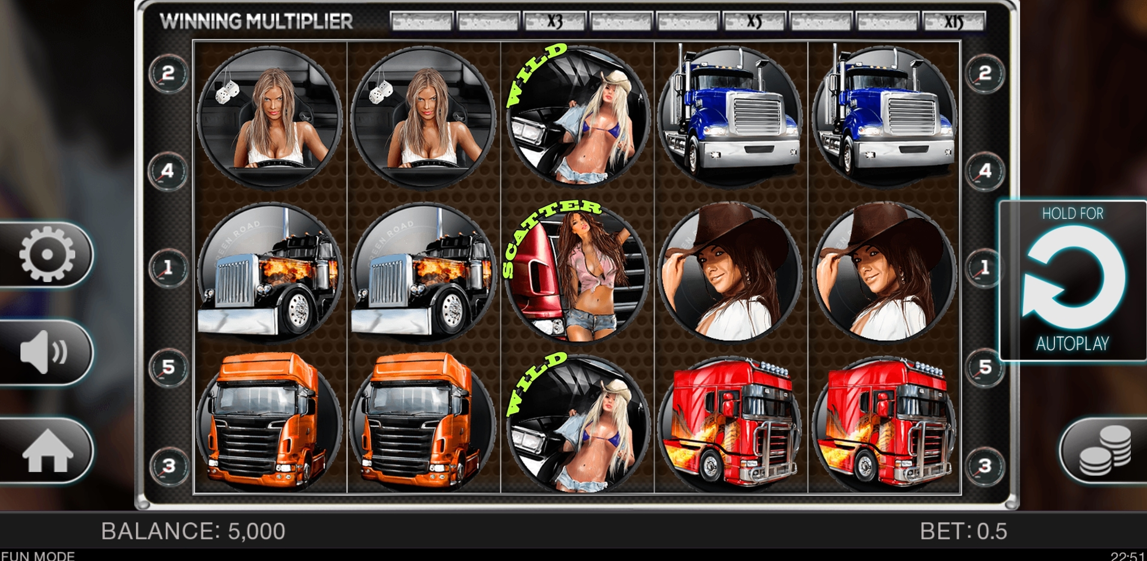 Reels in Blazing Tires Slot Game by Spinomenal