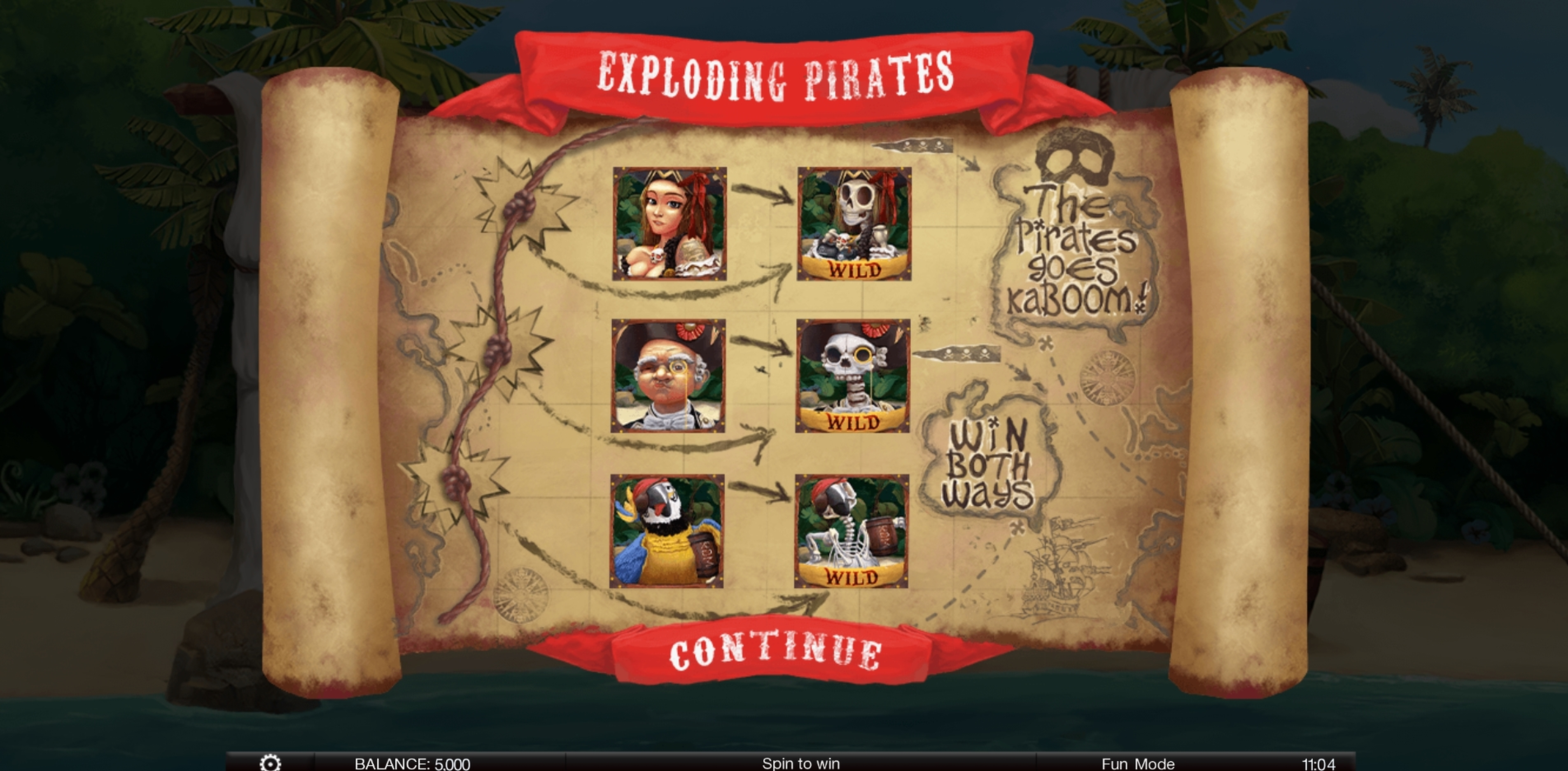 Play Exploding Pirates Free Casino Slot Game by Spinomenal