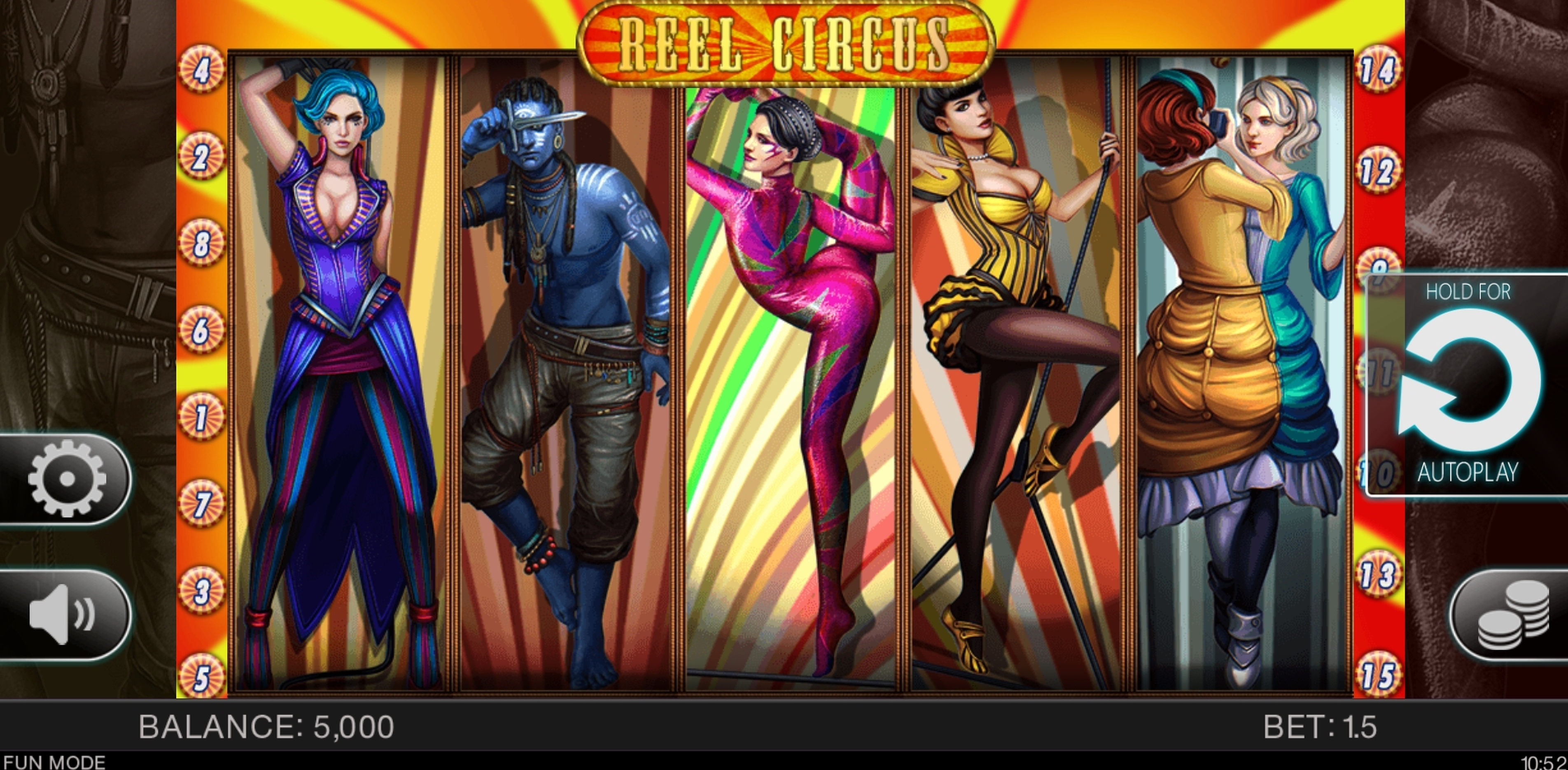 Reels in Reel Circus Slot Game by Spinomenal