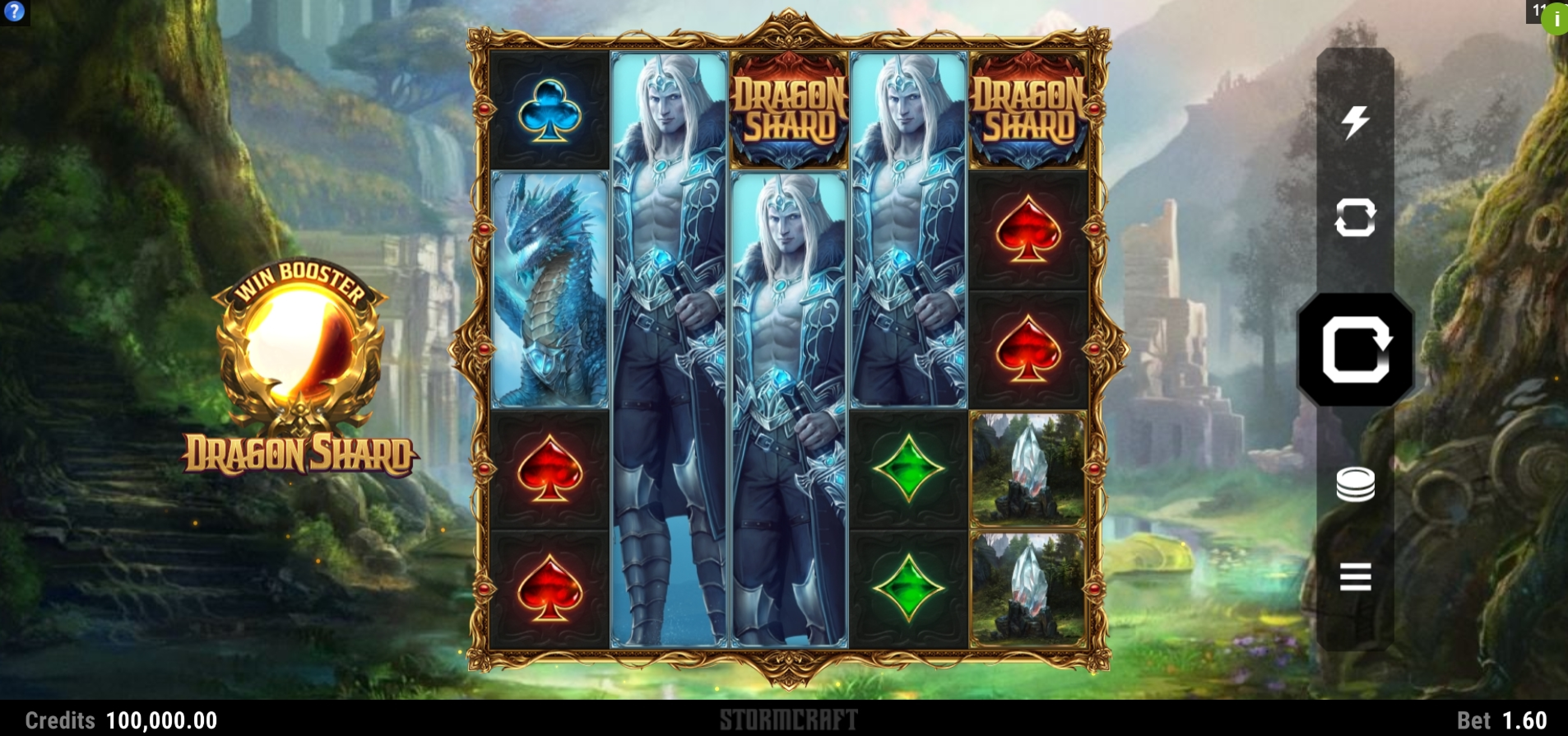 Reels in Dragon Shard Slot Game by Stormcraft Studios