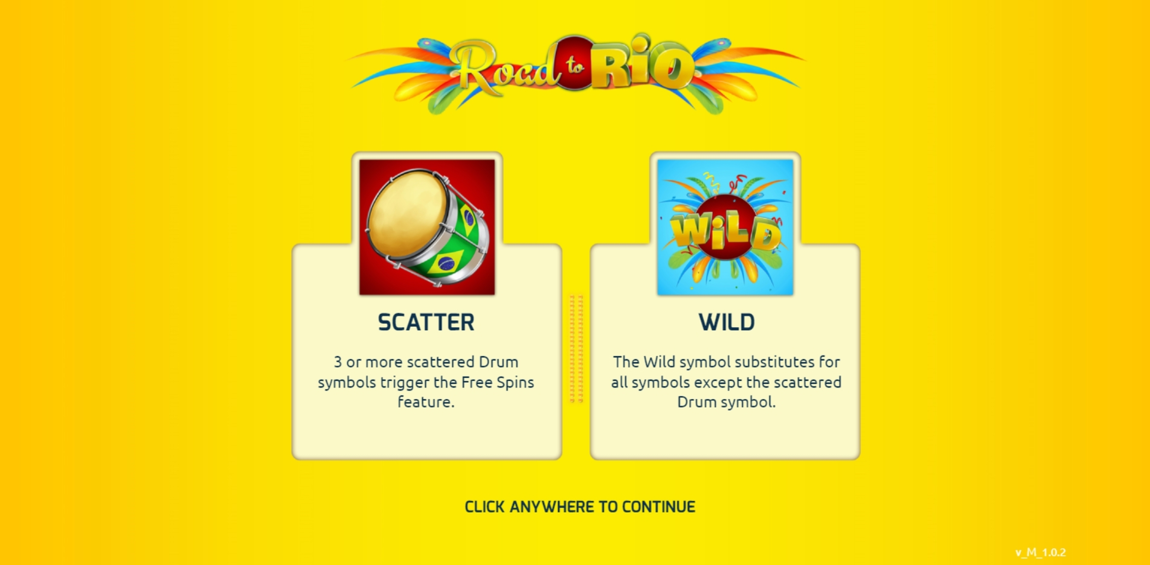 Play Road to Rio Free Casino Slot Game by The Games Company
