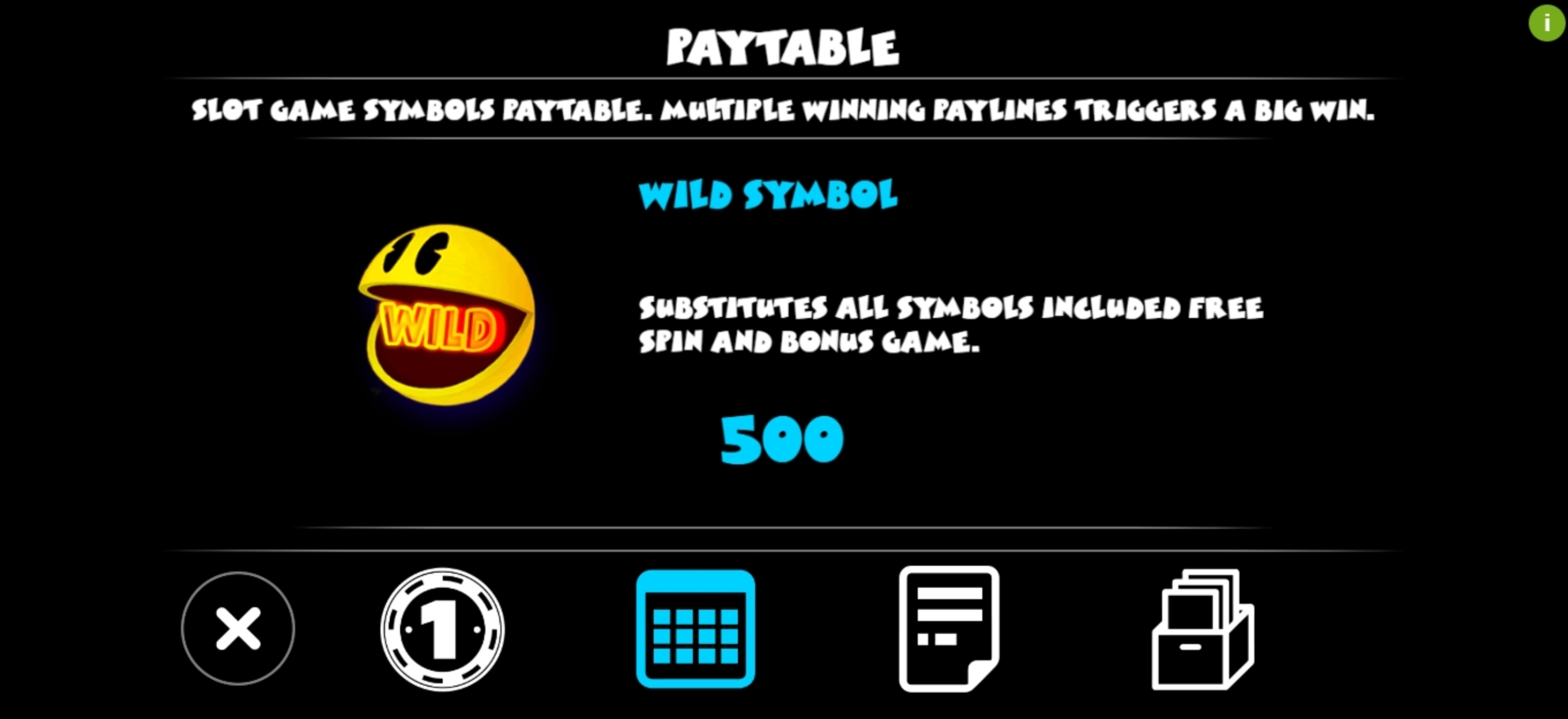 Info of Pac-man (Triple Profits Games) Slot Game by Triple Profits Games