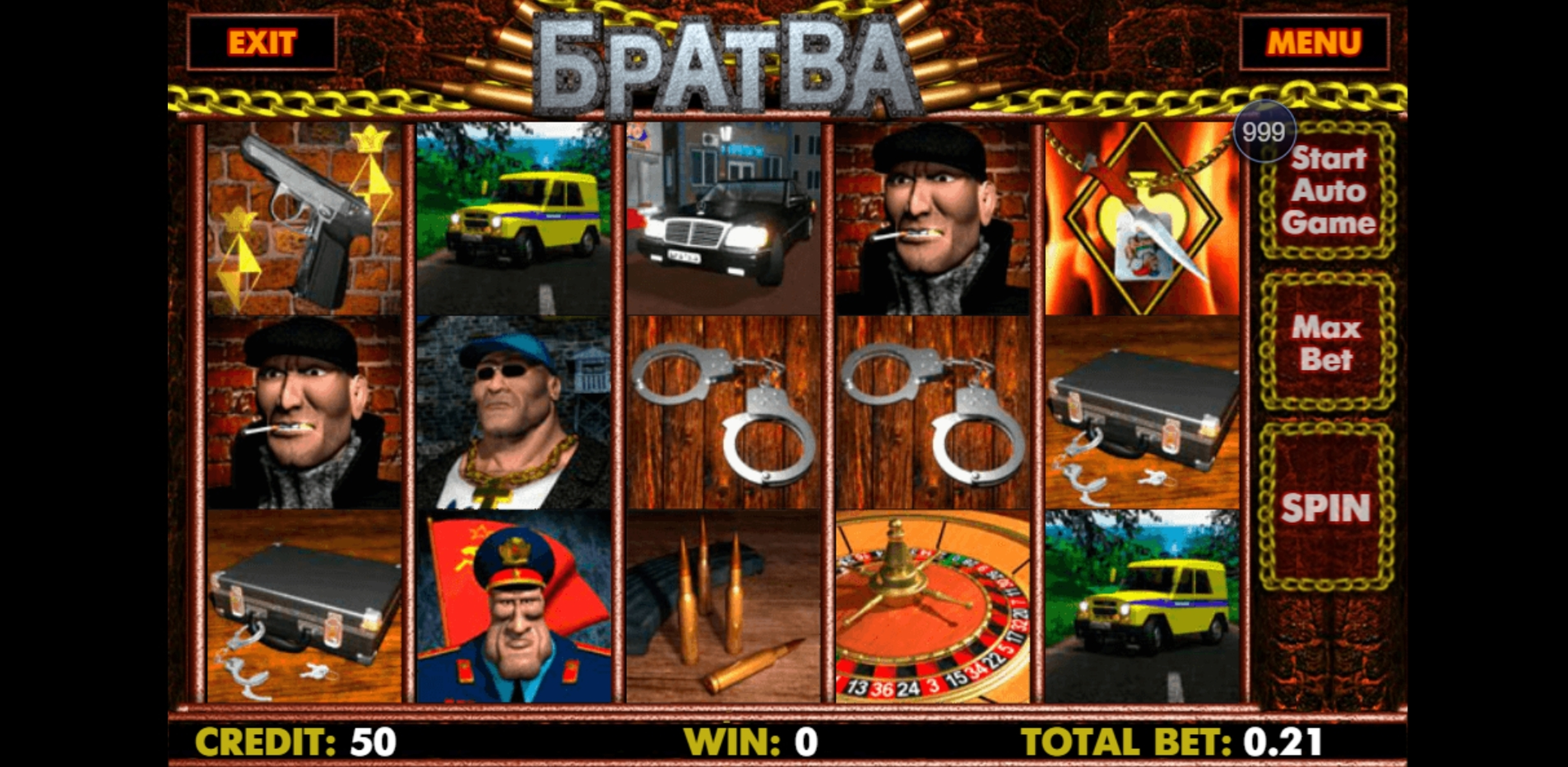 Reels in Bratva Slot Game by Unicum