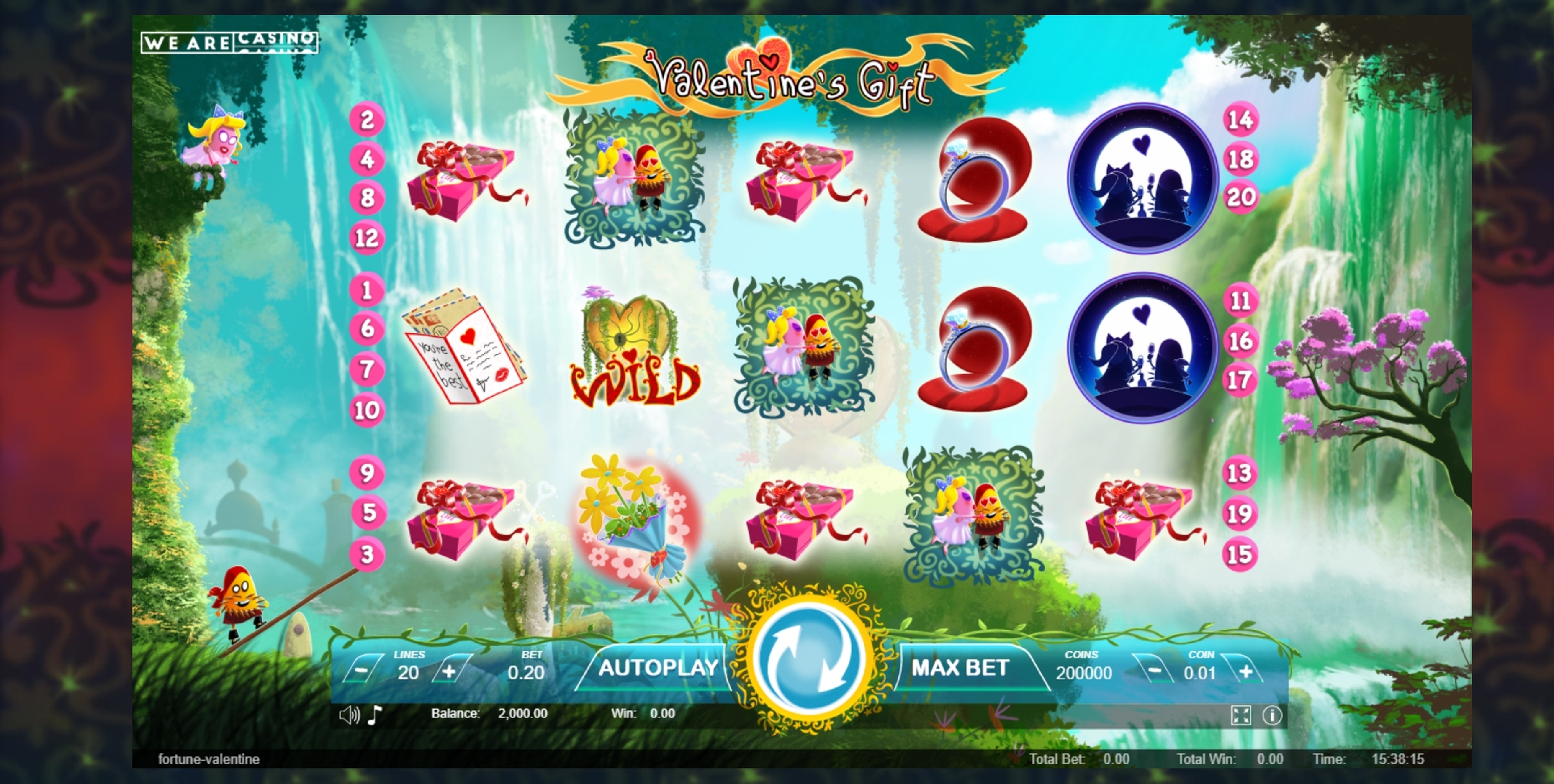 Reels in Valentine's Gift Slot Game by We Are Casino