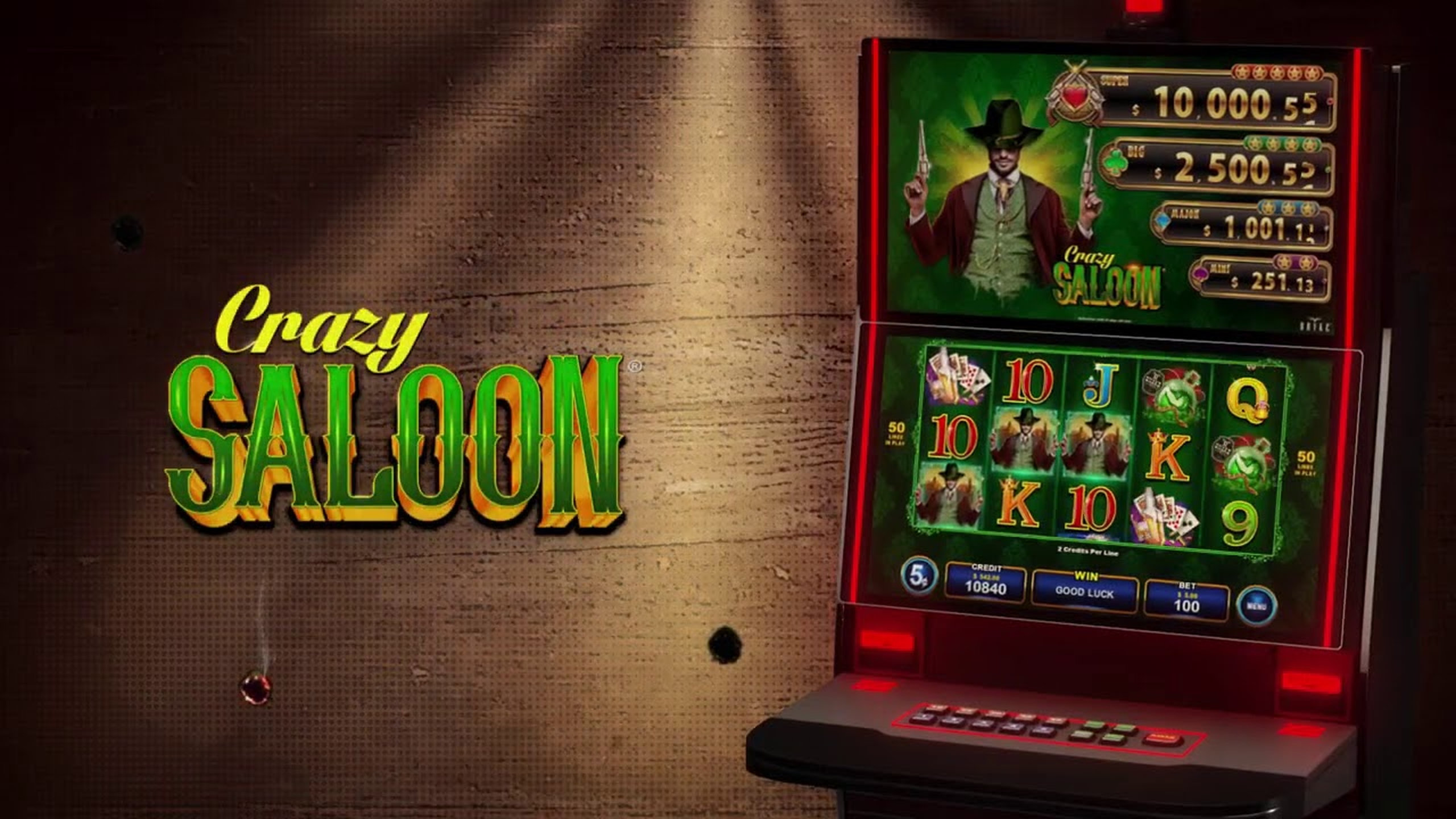 The Crazy Saloon Online Slot Demo Game by Zitro